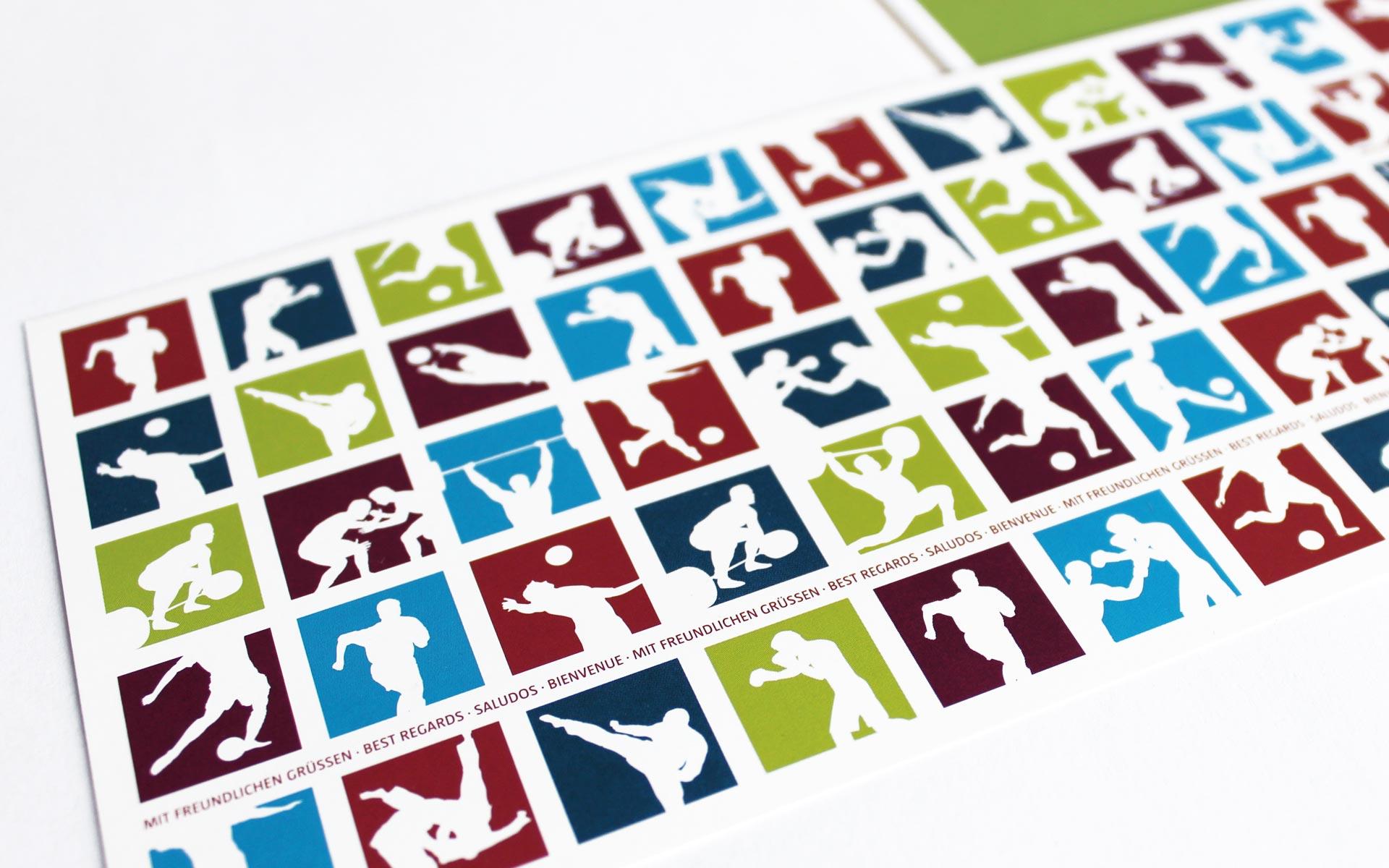 Sportschule Hennef Corporate Design, Logotype, Bildmarken-Varianten