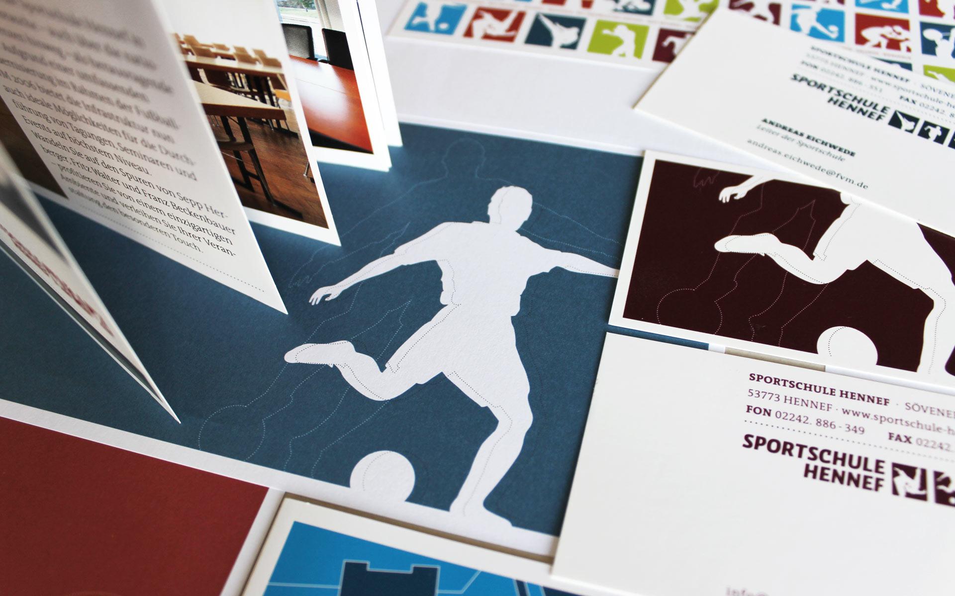 Sportschule Hennef Corporate Design,  Geschäftstausstattung und diverse Medien