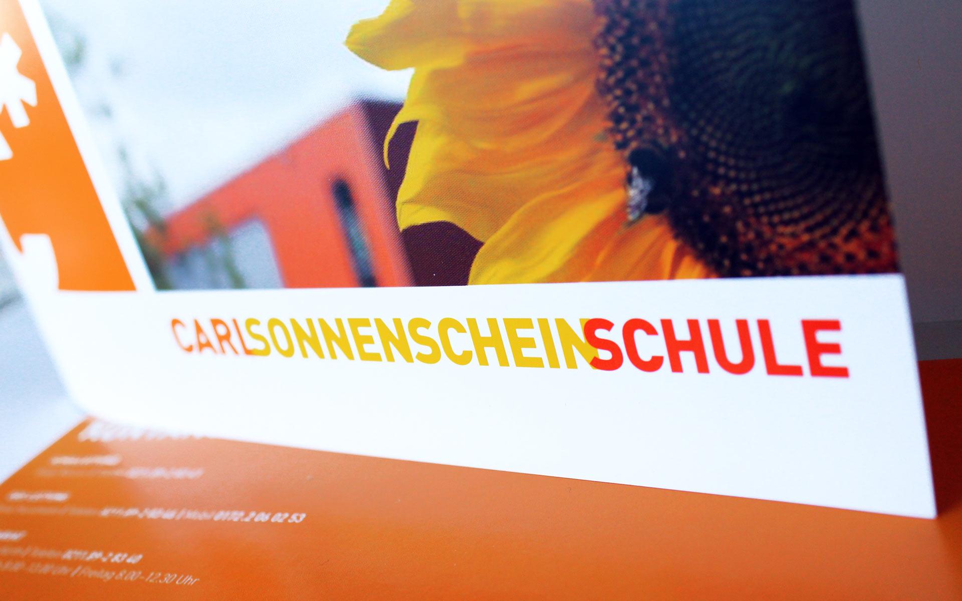 Carl Sonnenschein Schule Corporate Design, Schriftzug, Wortmarke