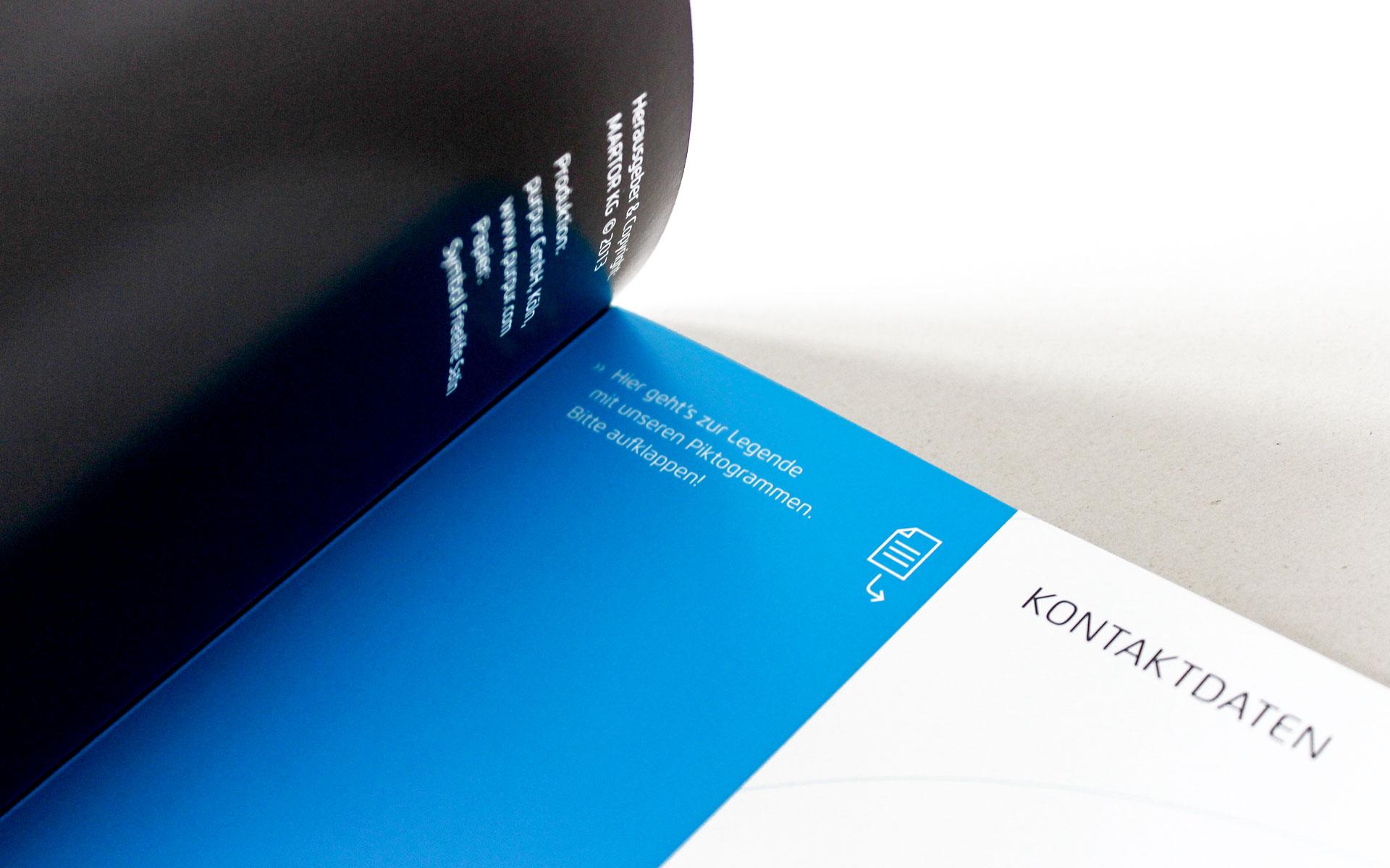 MARTOR Broschürenkonzept, Sicherheitsmesser Katalog, eingeklappte Rückseite
