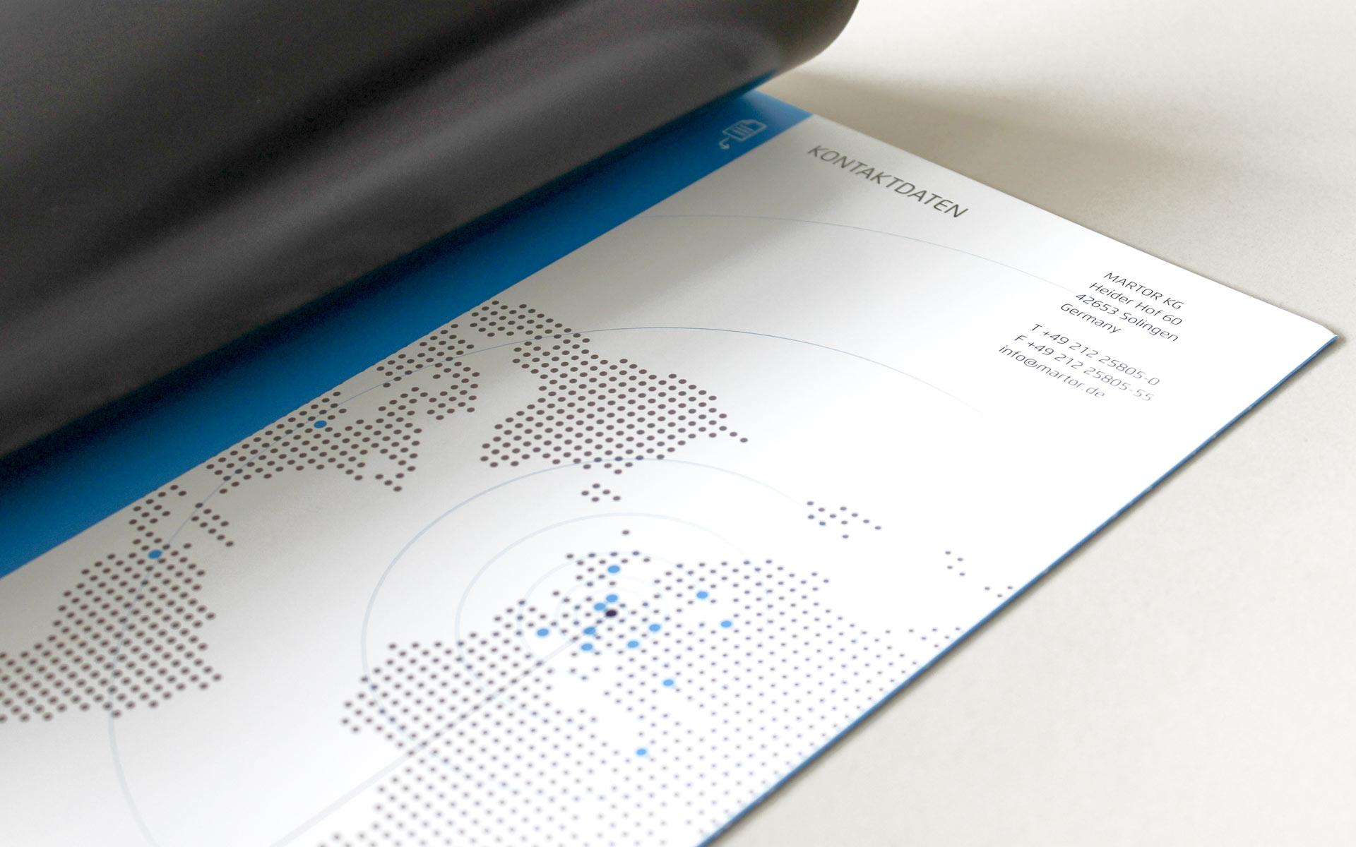 MARTOR Broschürenkonzept, Sicherheitsmesser Katalog, Informationsgrafik