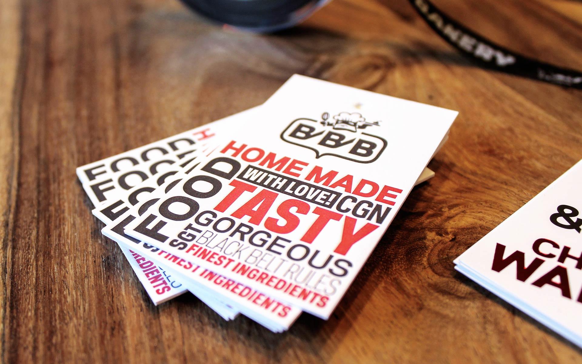 Black Belt Bakery Corporate Design, Geschäftsausstattung, Hangtag