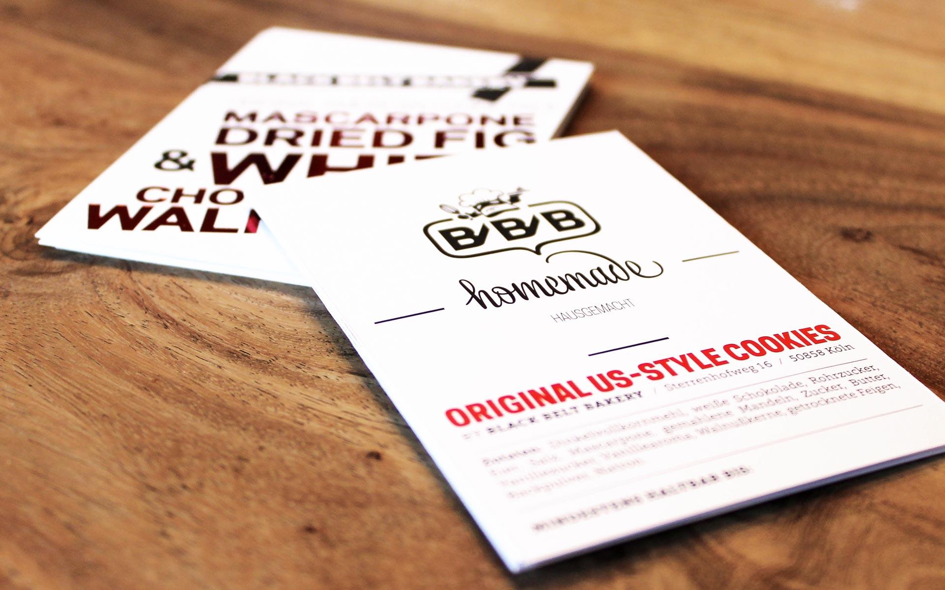 Black Belt Bakery Corporate Design, Hangtag für Cookies