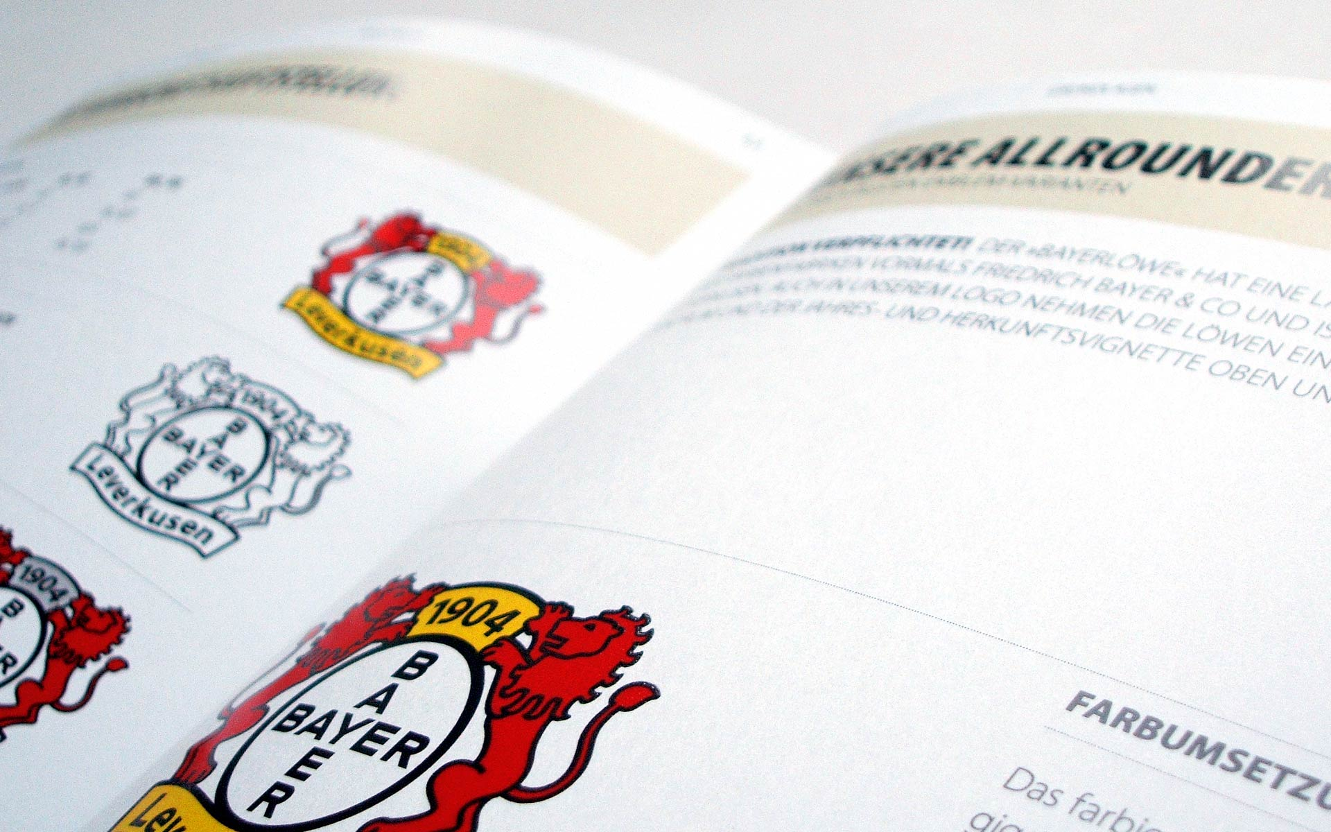 Bayer 04 Leverkusen Corporate Design, Closeup CD-Manual, Emblem-Anwendung