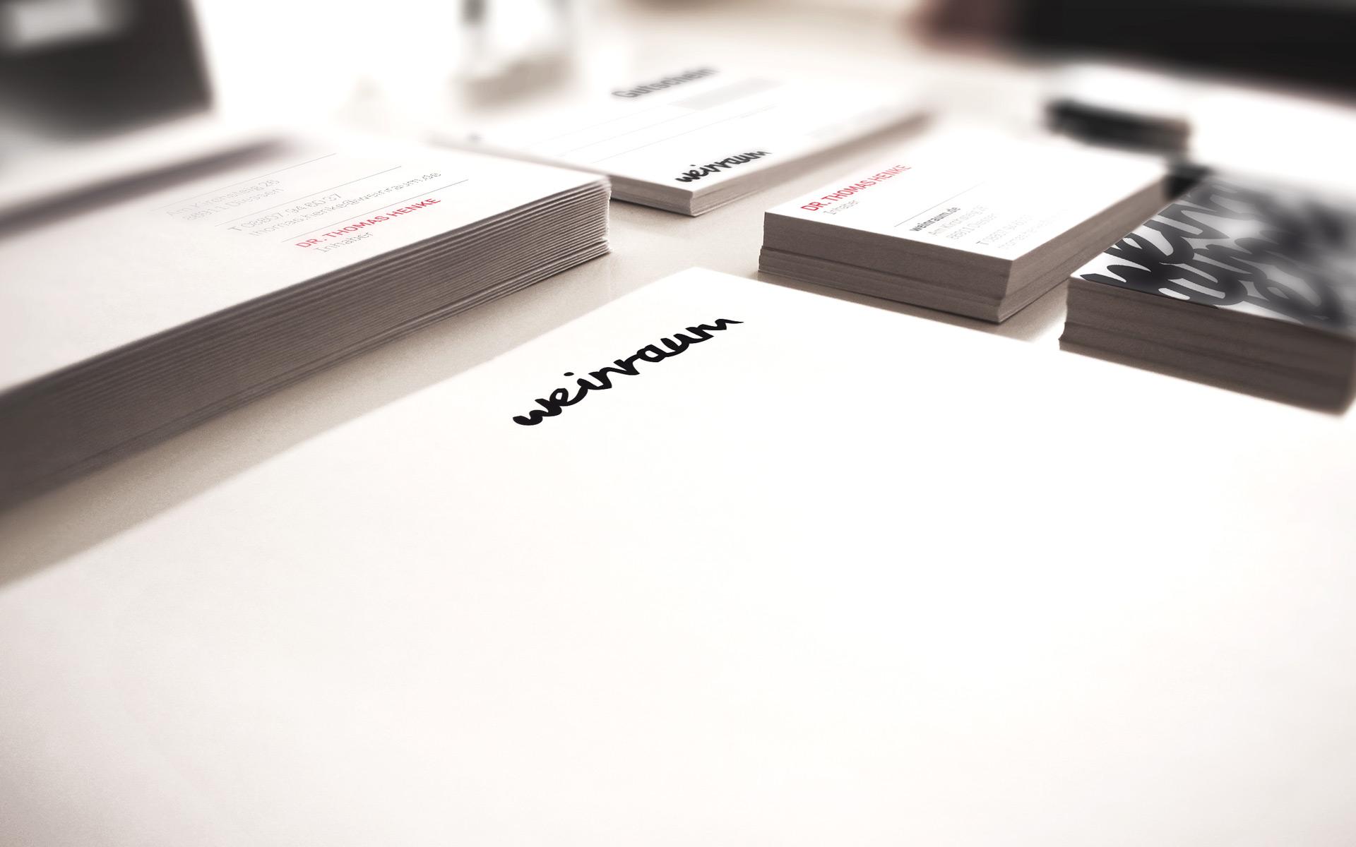 Weinraum Corporate Design, Geschäftsausstattung