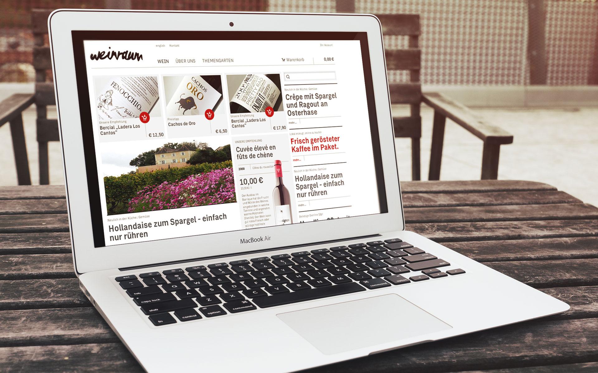 Weinraum Corporate Design, Website