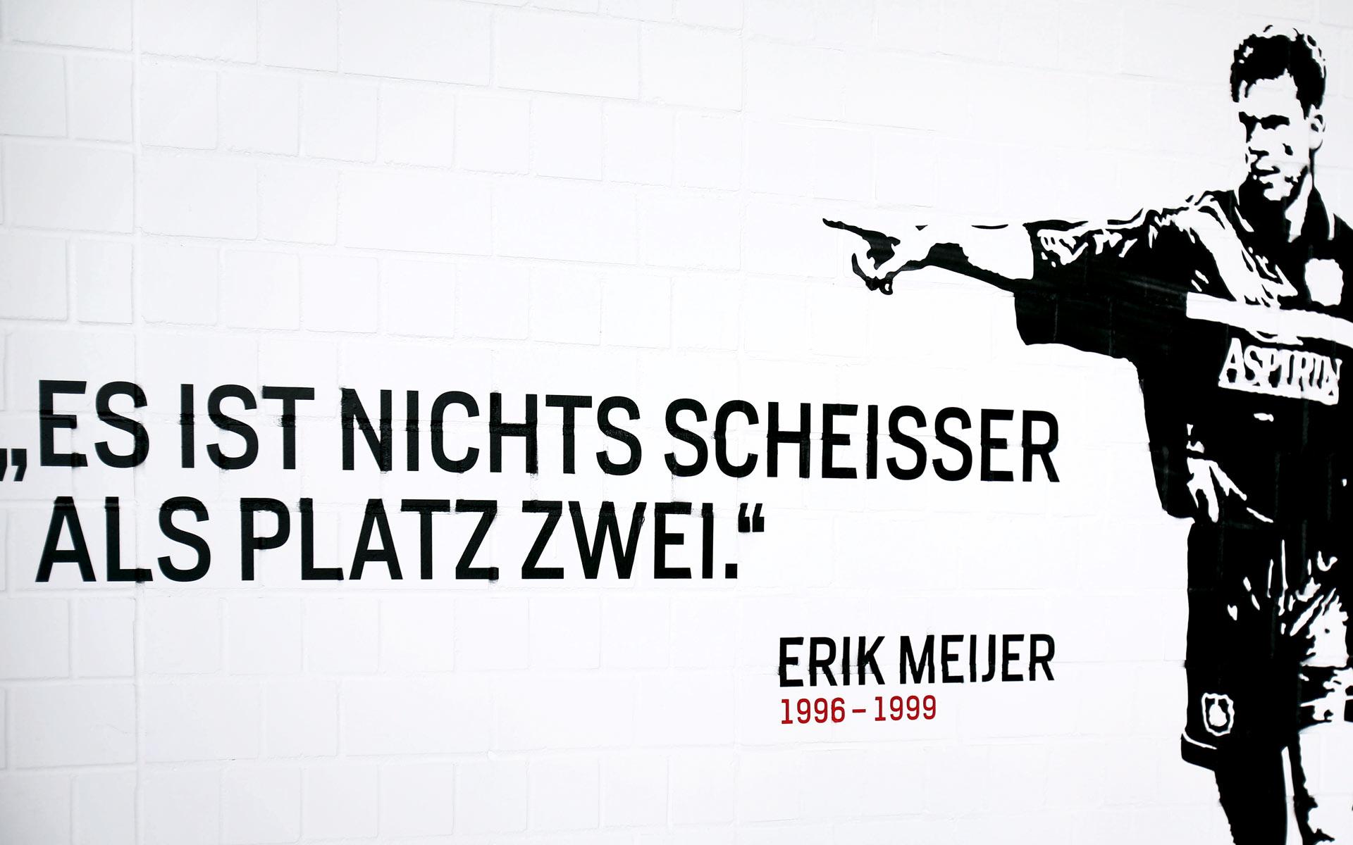 Bayer 04, BayArena Orientierungssystem und Branding, Pochoir Erik Meijer