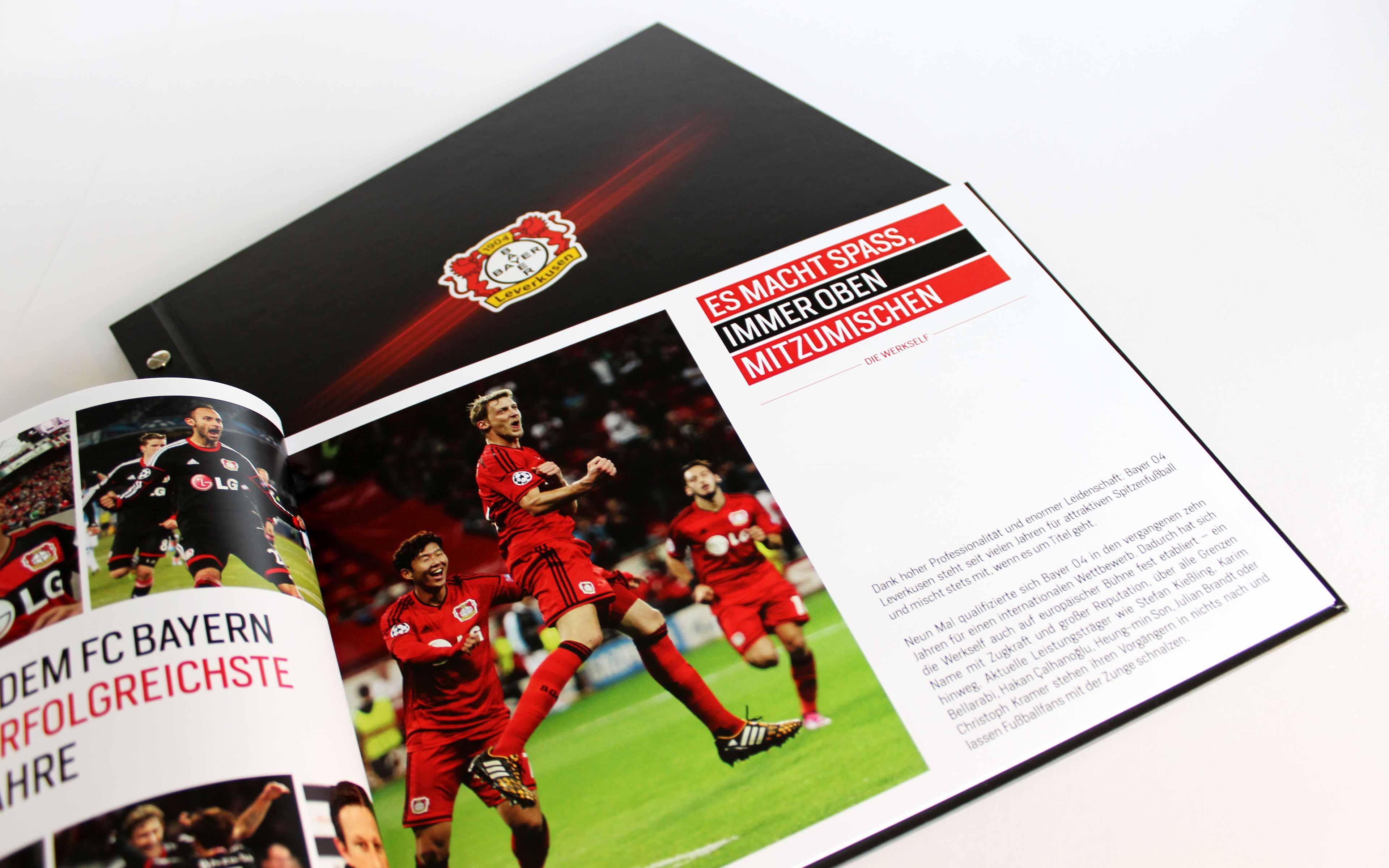 Bayer 04 Leverkusen Vermarktungsbroschüre, Doppelseite