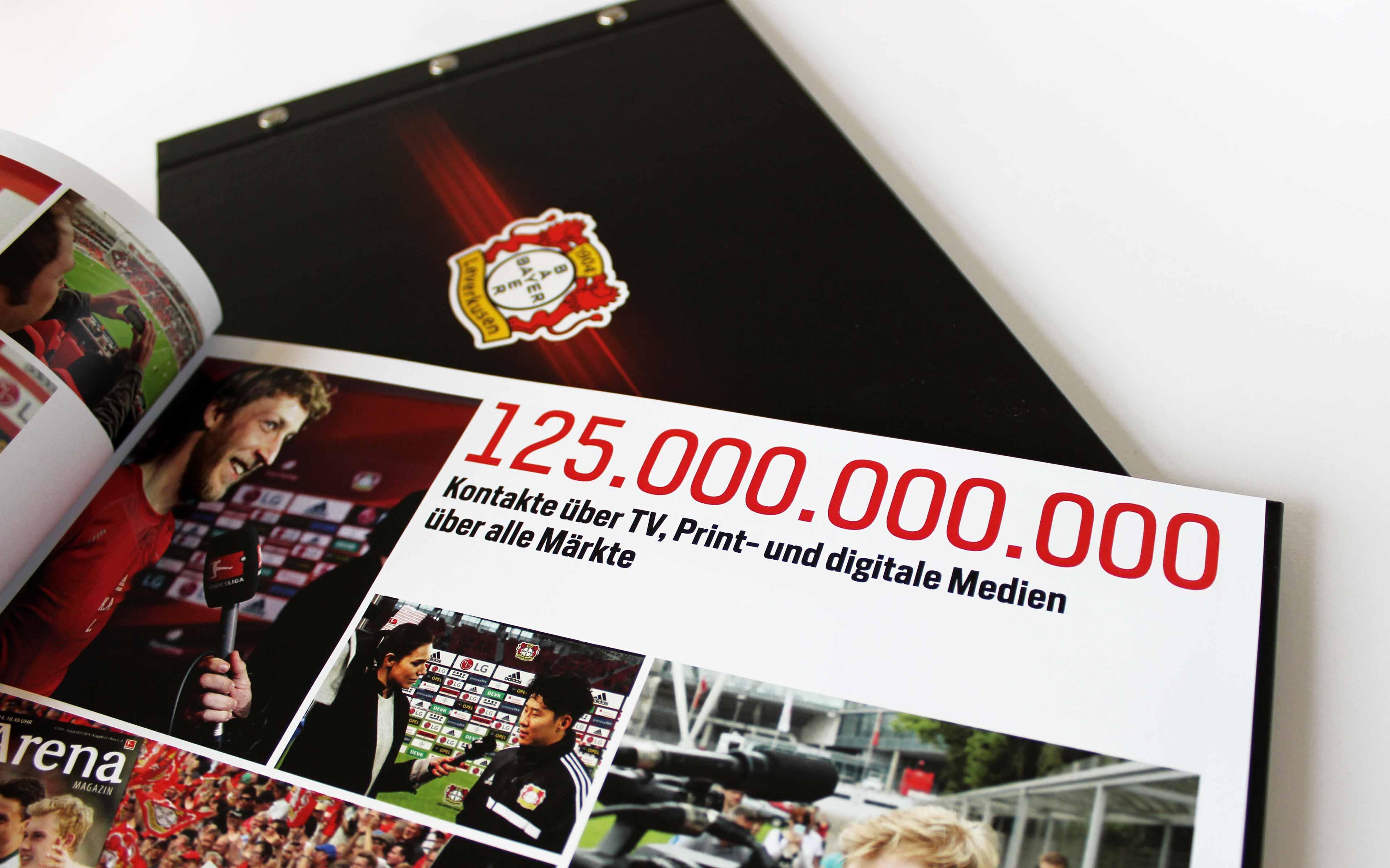 Bayer 04 Leverkusen Vermarktungsbroschüre, Typografie