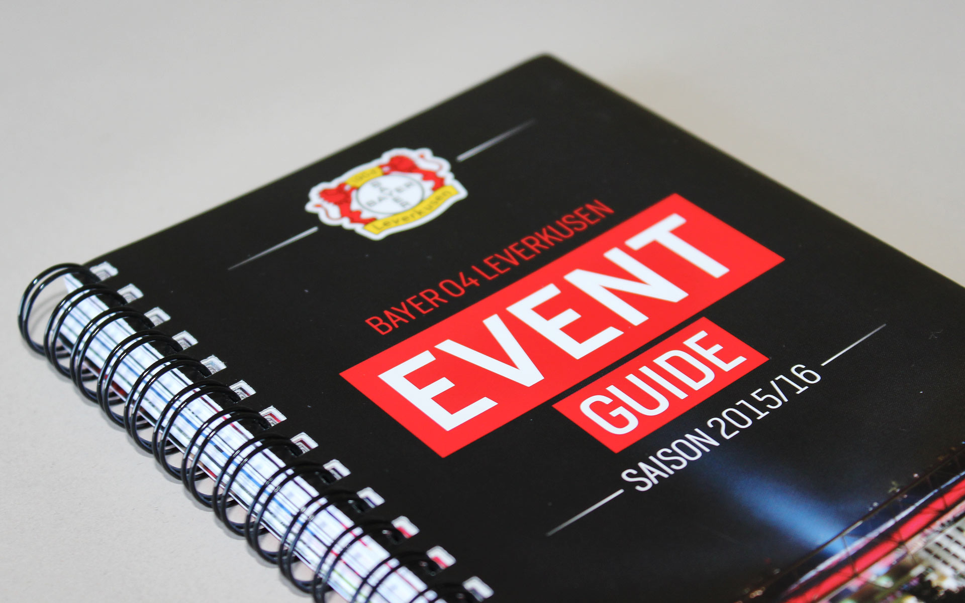 Bayer 04 Markenkommunikation, Corporate Communication, Event Guide, Titel