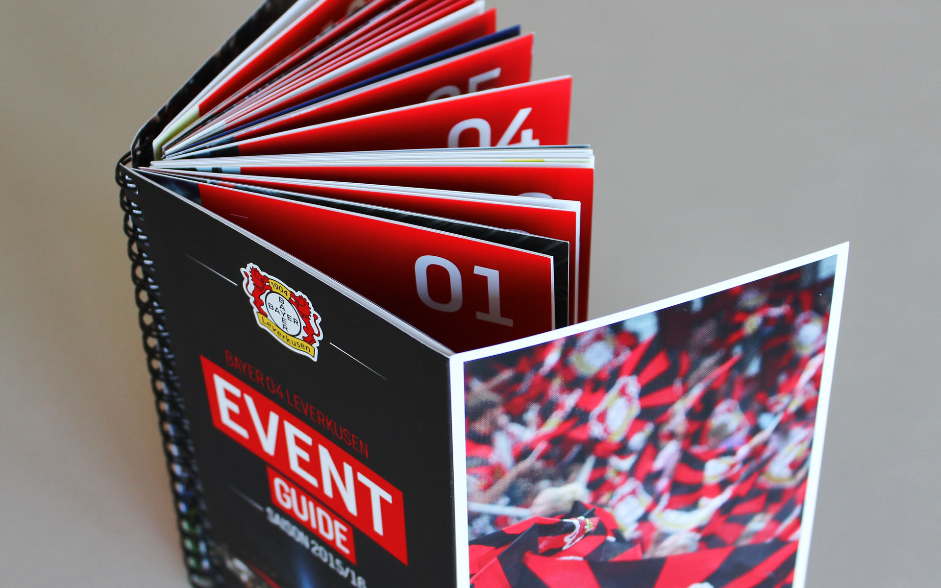 Bayer 04 Markenkommunikation, Corporate Communication, Event Guide