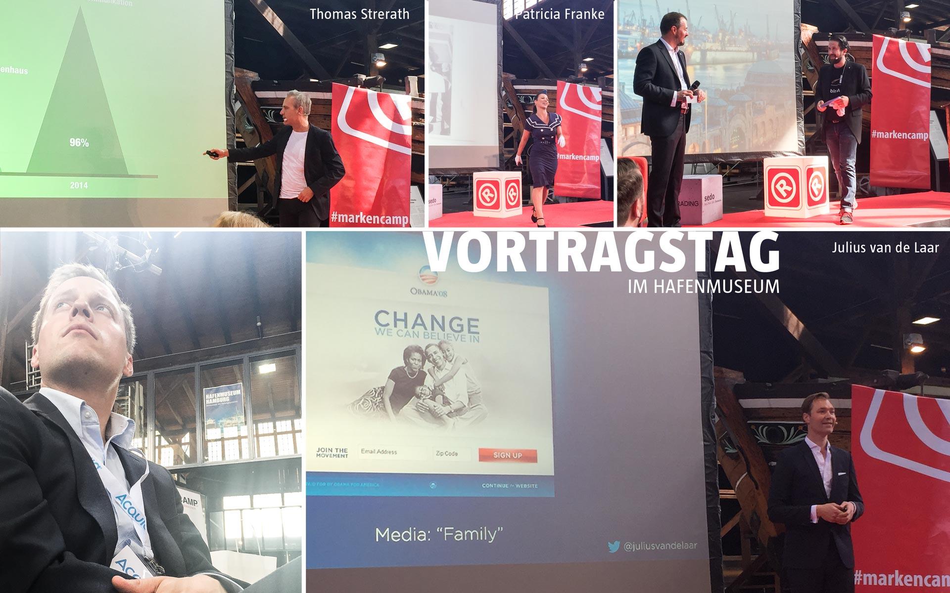stay golden auf dem Markencamp 2016 in Hamburg, Vortragstag