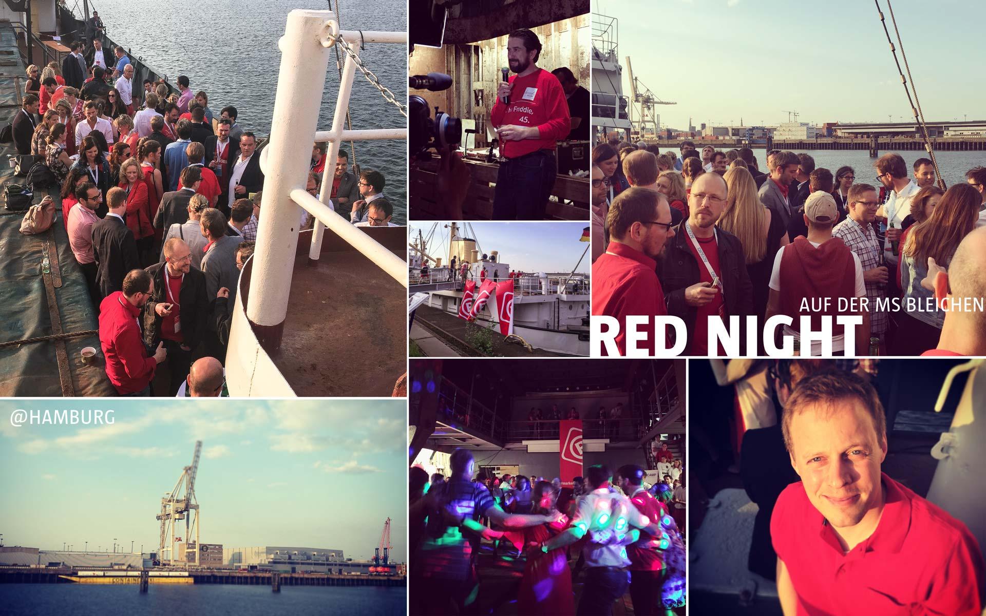 stay golden auf dem Markencamp 2016 in Hamburg, Red Night