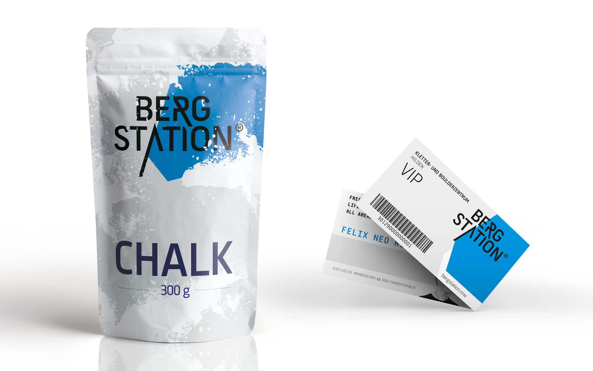 Bergstation Corporate Design, Stationery, Chalk Pouch and VIP-Cards