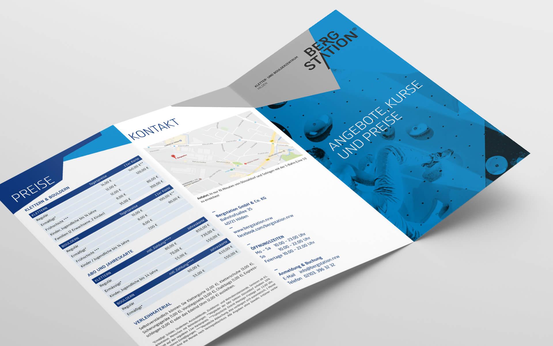 Bergstation Corporate Design, Flyer