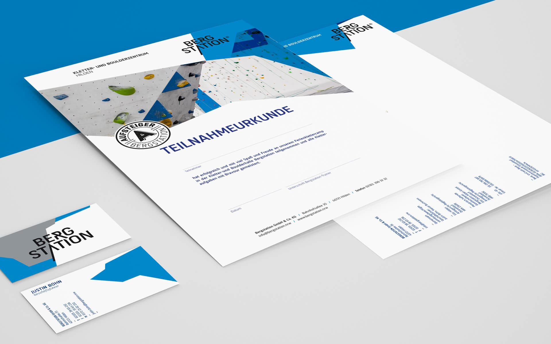 Bergstation Corporate Design, Urkunde