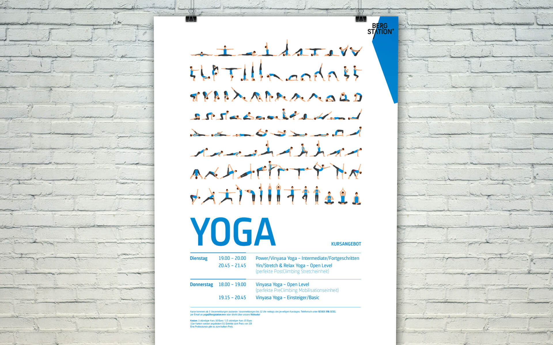 Bergstation Corporate Design, Yoga Plakat
