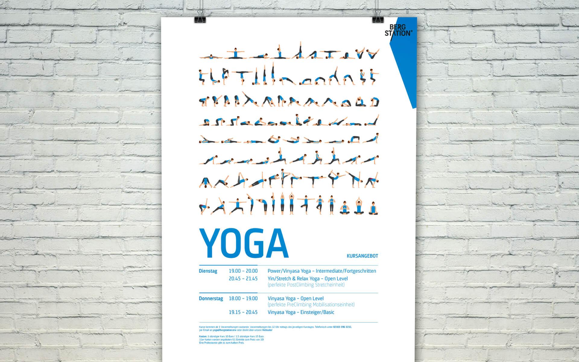 Bergstation Corporate Design, Yoga Plakat