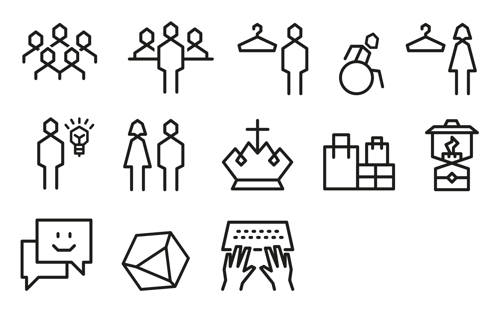 Bergstation Corporate Design, Signaletik, Piktogramme und Icons