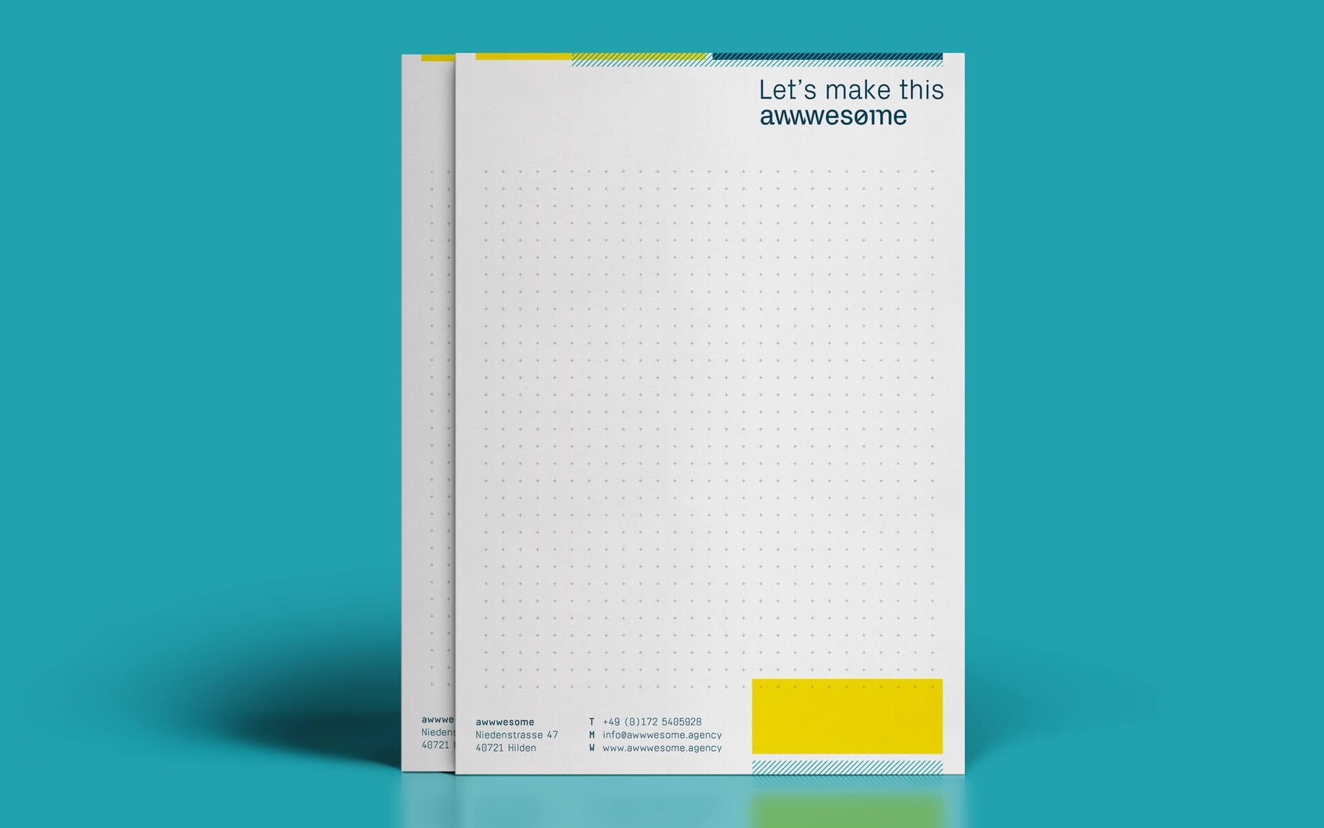 awwwesome Corporate Design, Geschäftsausstattung, Notizblock
