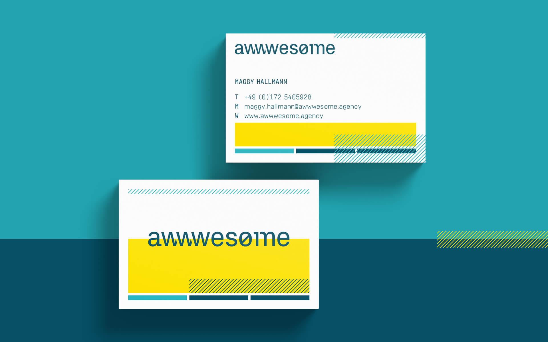 awwwesome Corporate Design, Geschäftsausstattung, Visitenkarte