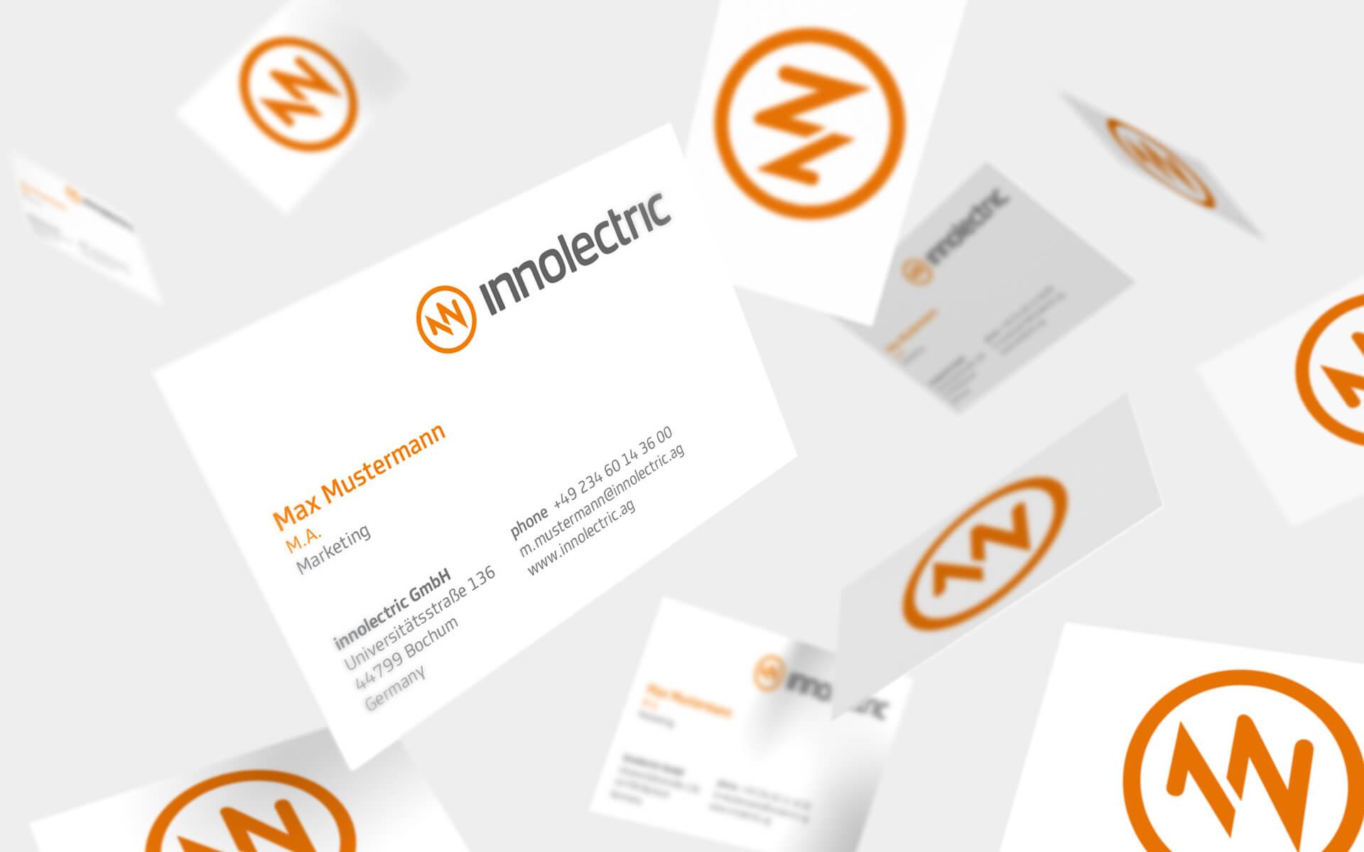 innolectric Corporate Design, Visitenkarten