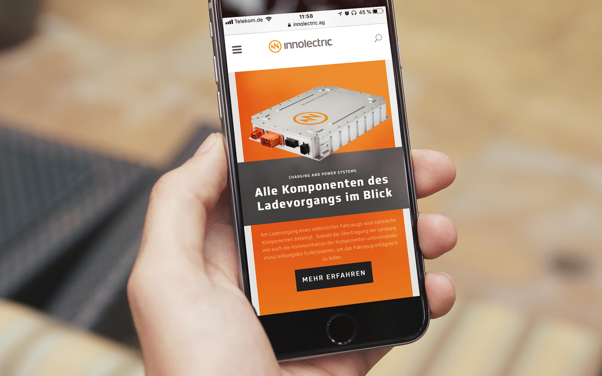 innolectric Corporate Design, Webdesign, smartphone