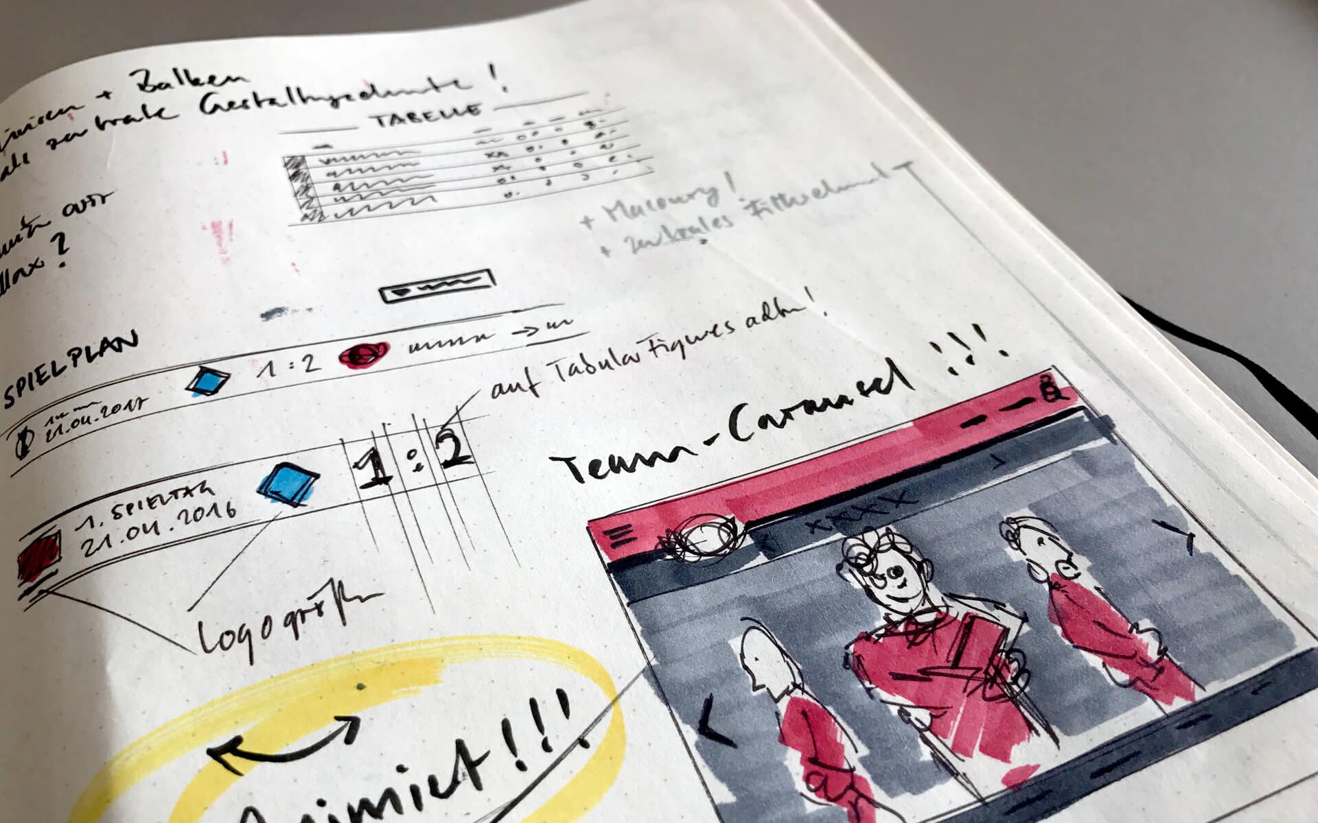 Bayer 04 Website Relaunch, Redesign, Scribbles, UserInterface, Webdesign