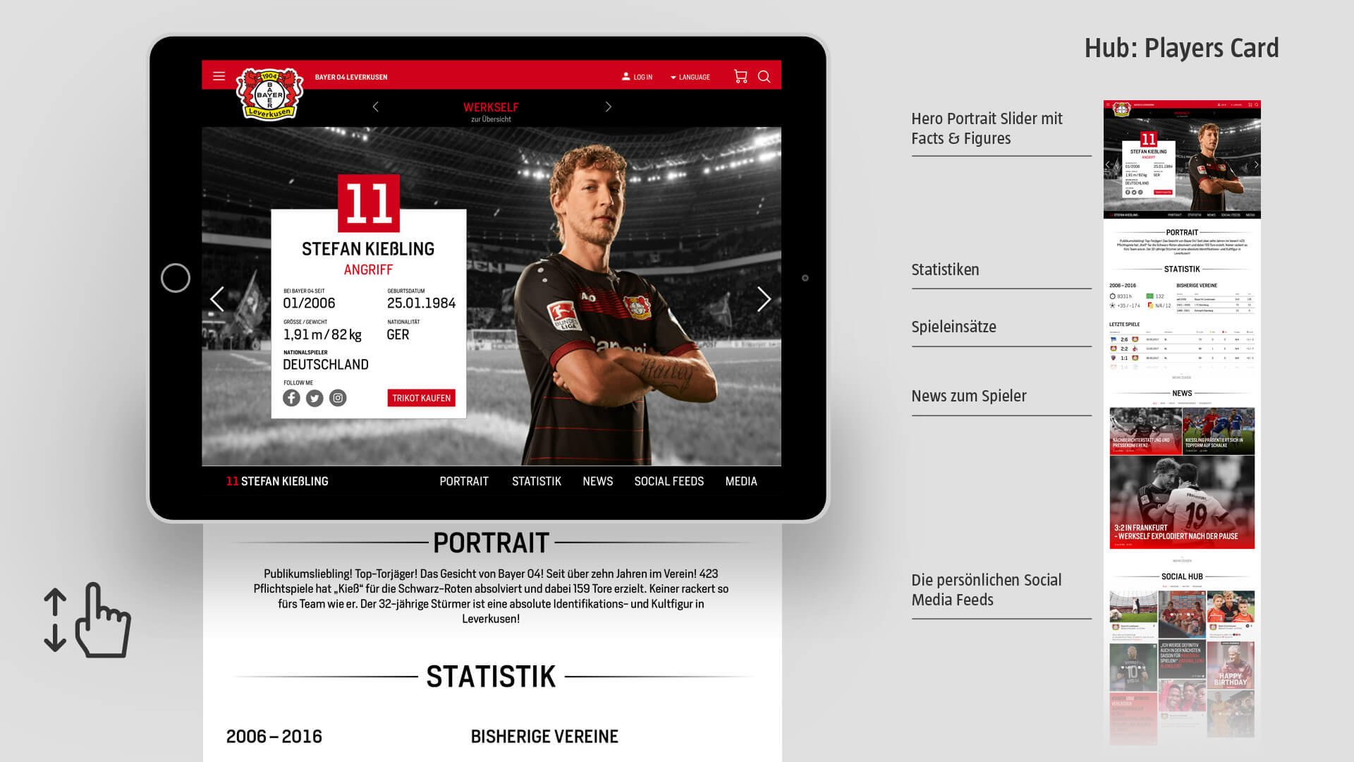 Bayer 04 Website Relaunch, Redesign, Webdesign, UX, UI