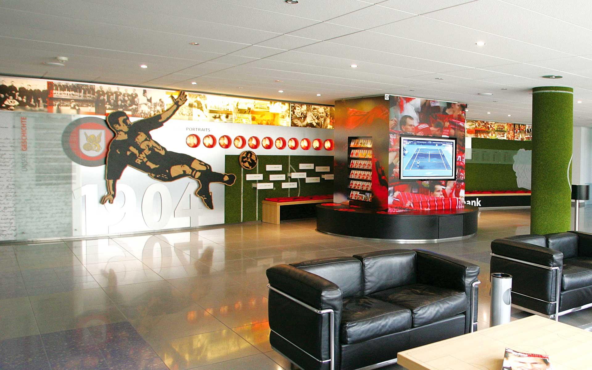 Bayer 04 Foyer BayArena, Brand Space, Übersicht