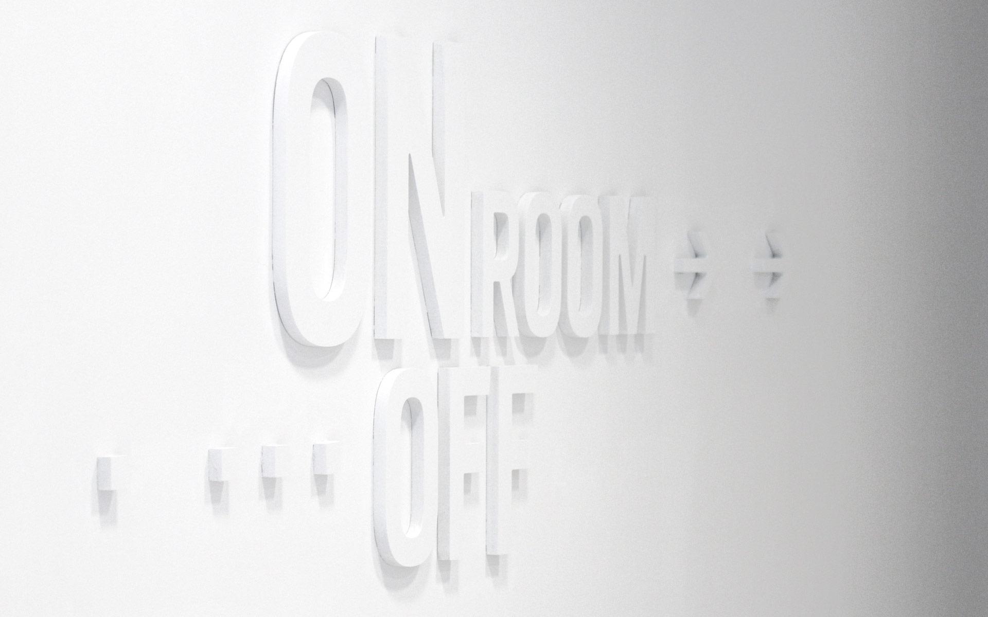 Bayer 04 neue Liegenschaft – Wayfinding, Leit- und Orientierungssystem, Typografie an der Wand