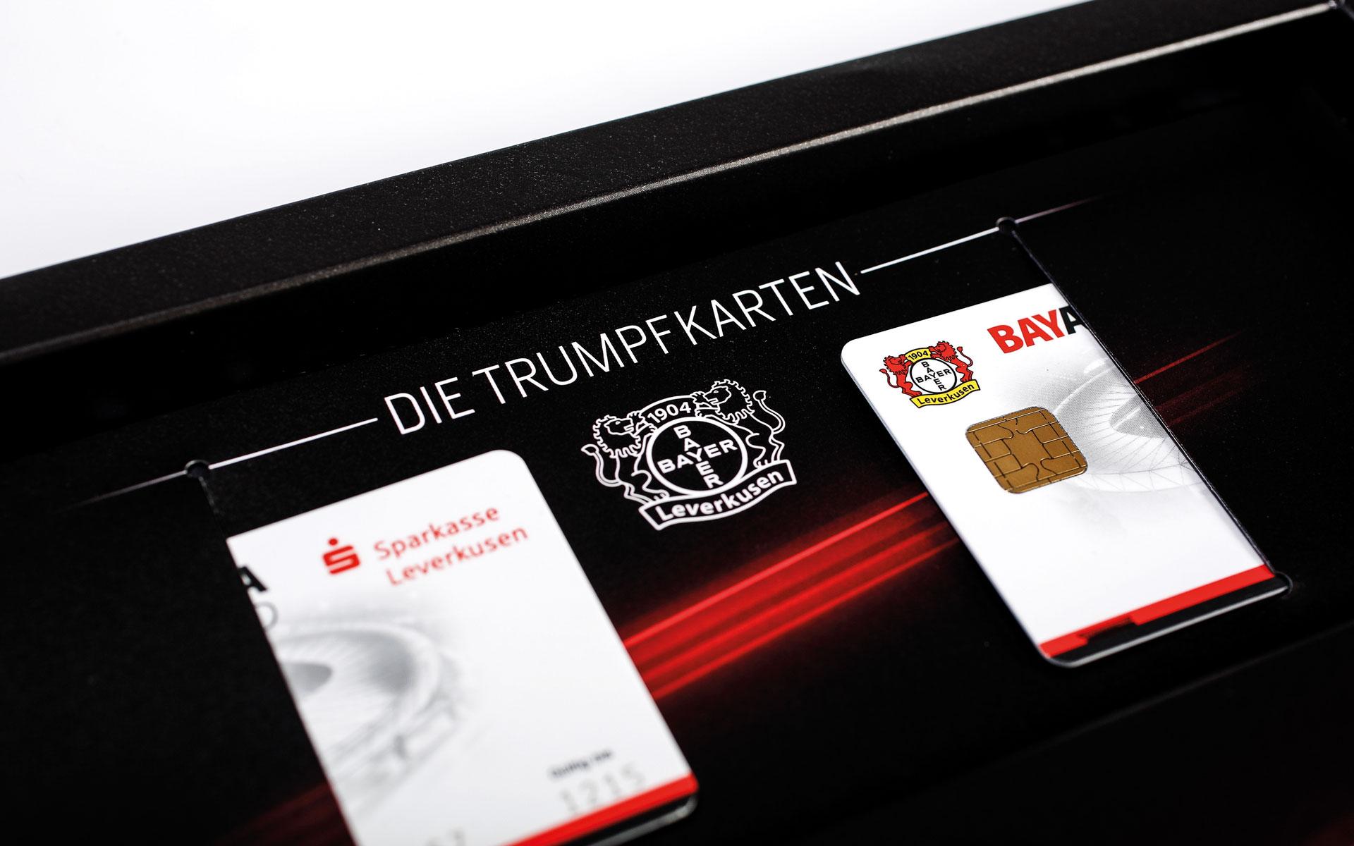 Bayer 04 VIP-Ticketbox, Einschubtaschen für die BayArena Card