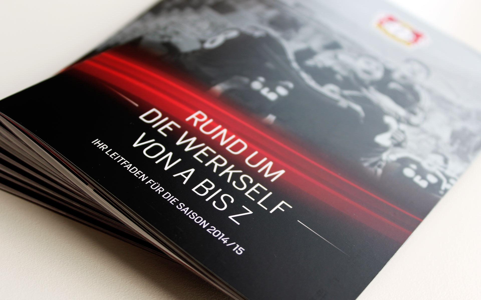 Bayer 04 VIP-Ticketbox, Saison-Broschüre, Titel