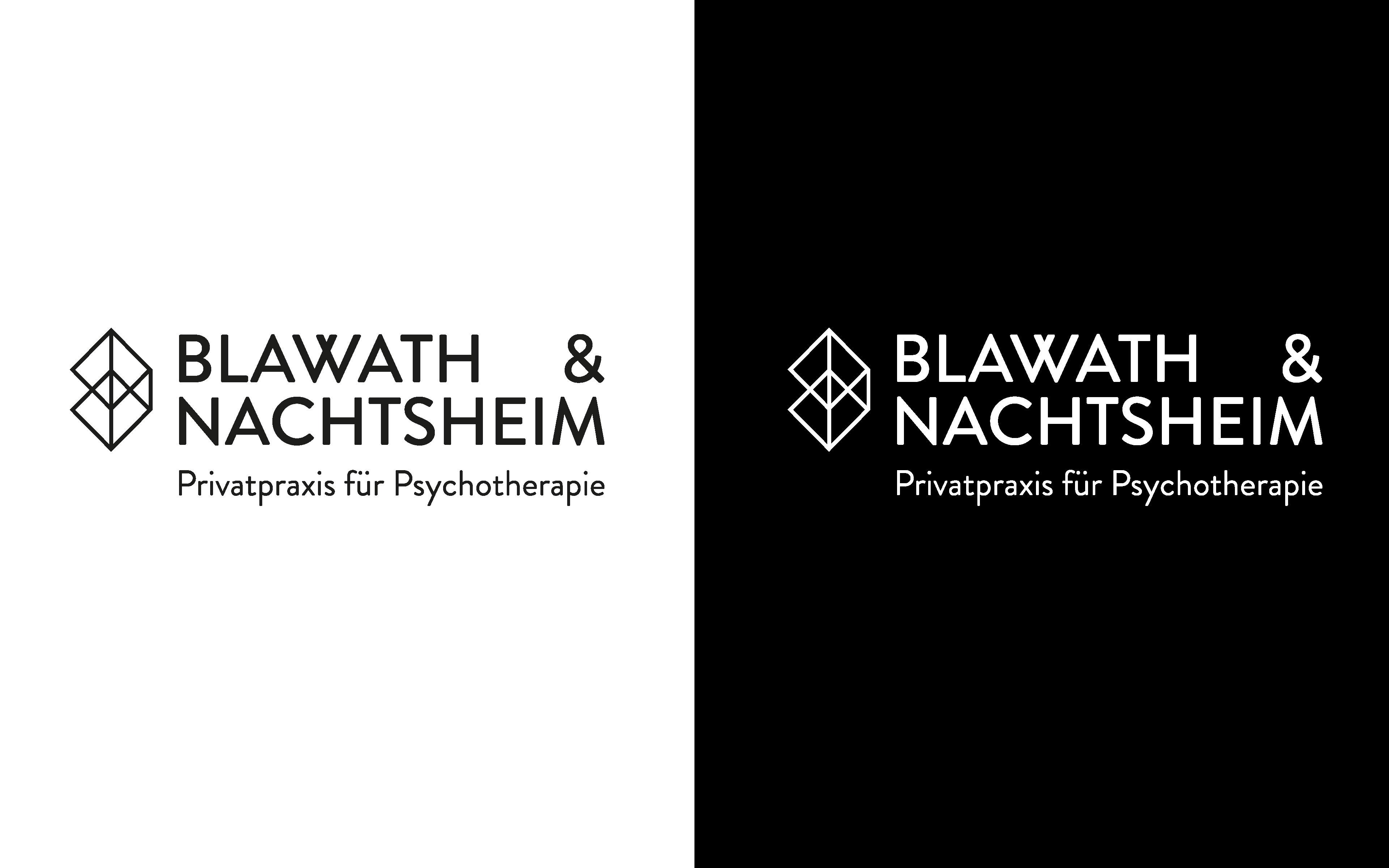 Blawath & Nachtsheim Corporate Design, Logotype – positiv und negativ