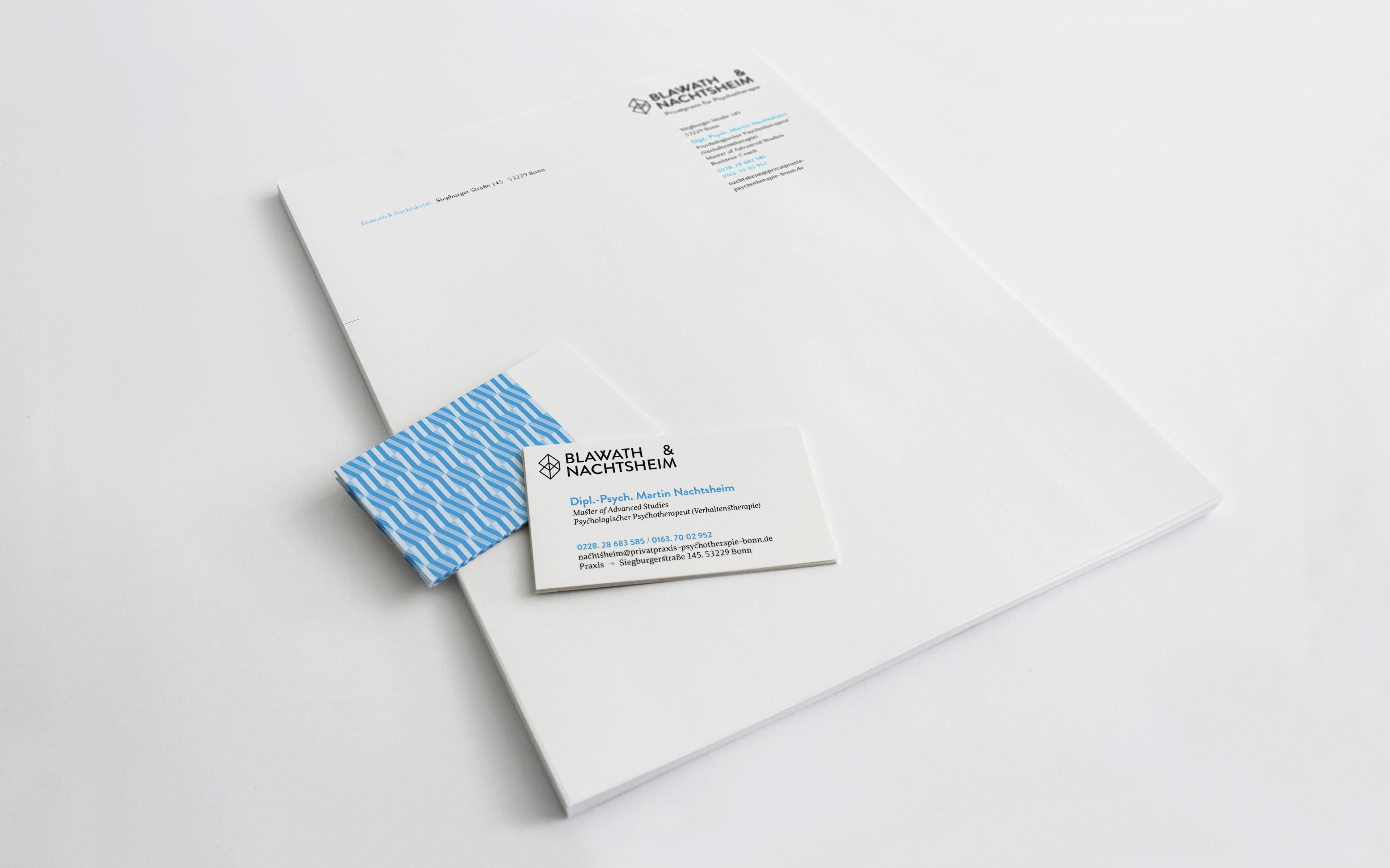 Blawath & Nachtsheim Corporate Design, Briefbogen und Visitenkarte