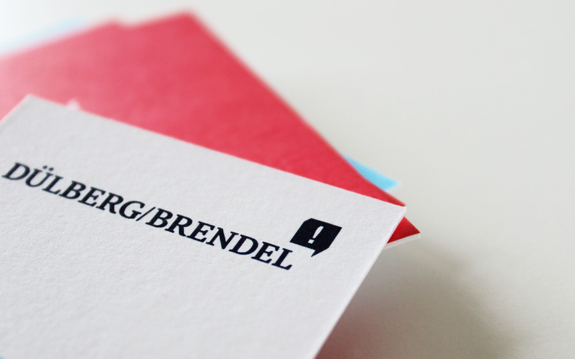 Dülberg & Brendel Corporate Design, Visitenkarte, Detail Logotype