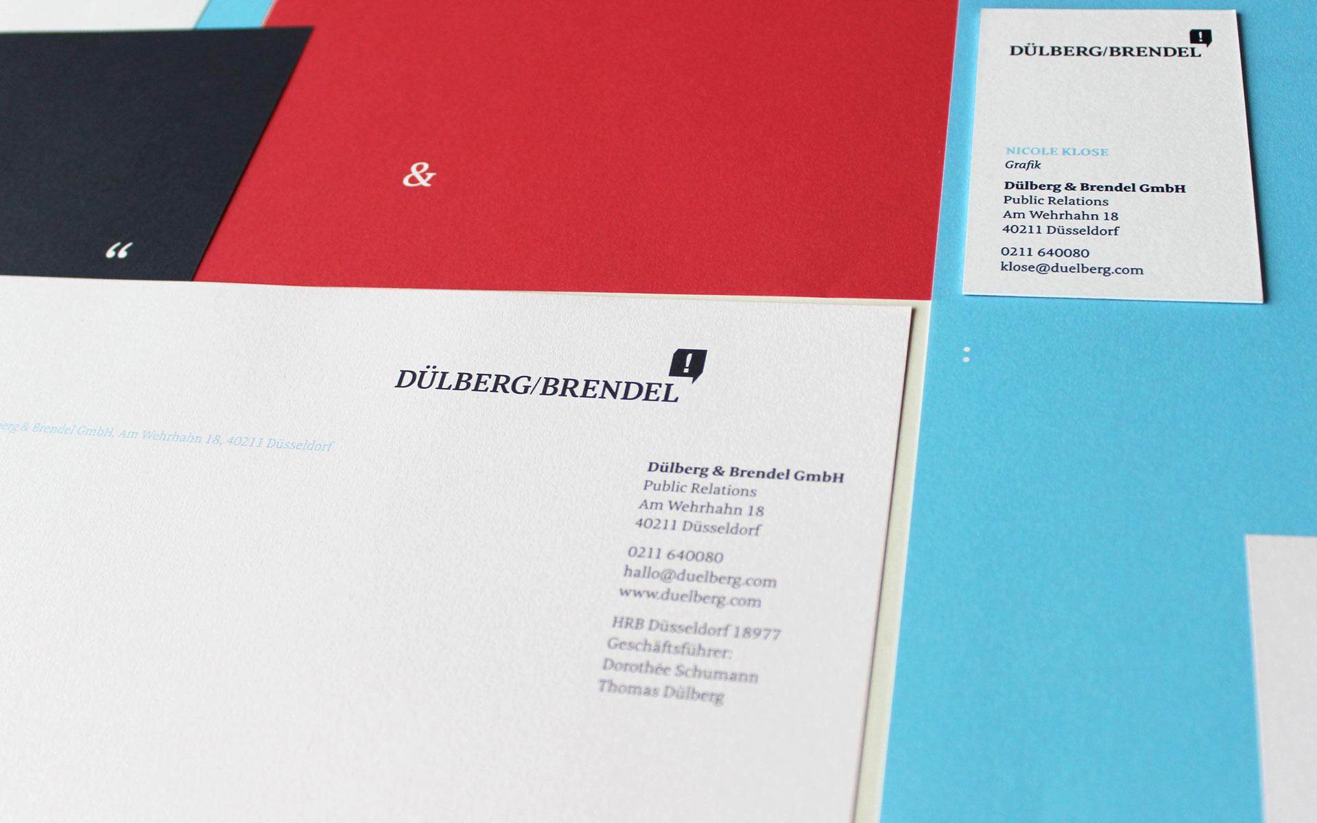 Dülberg & Brendel Corporate Design, Geschäftsausstattung