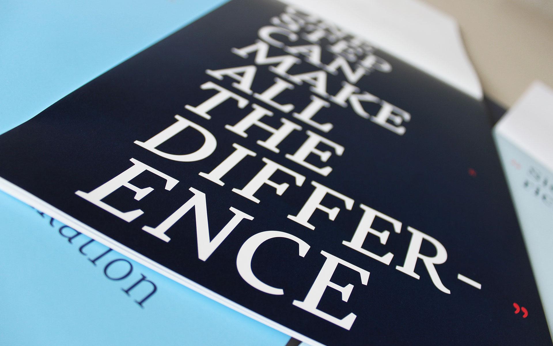 Dülberg & Brendel Corporate Design, Kommunikationsmedien, Imageblock, Typografie