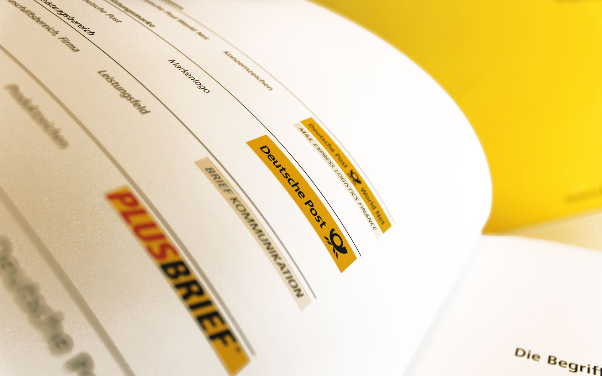 Deutsche Post AG / DHL Corporate Design,  CD-Manual, Markenarchitektur