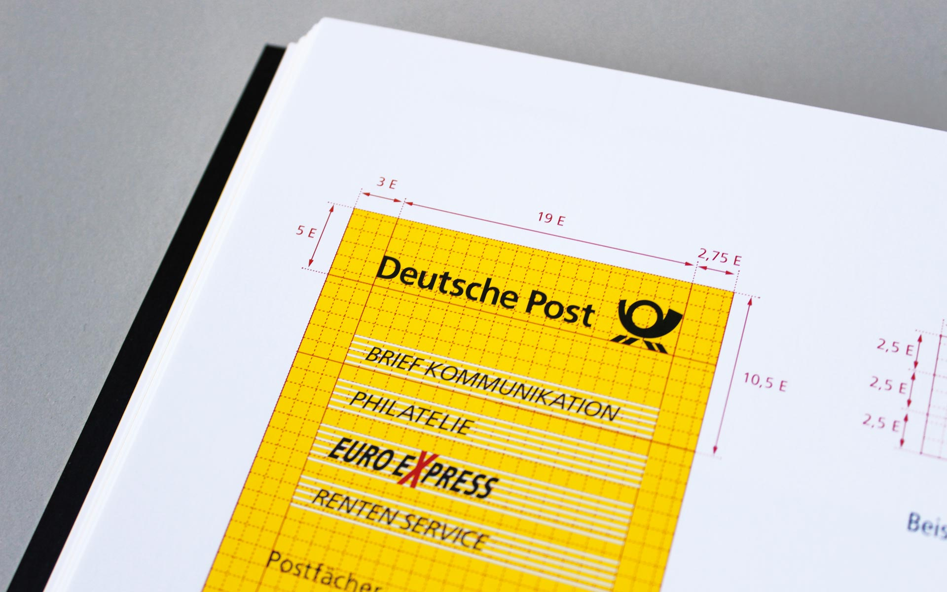 Deutsche Post AG / DHL Corporate Design, Vermassung der Pylone