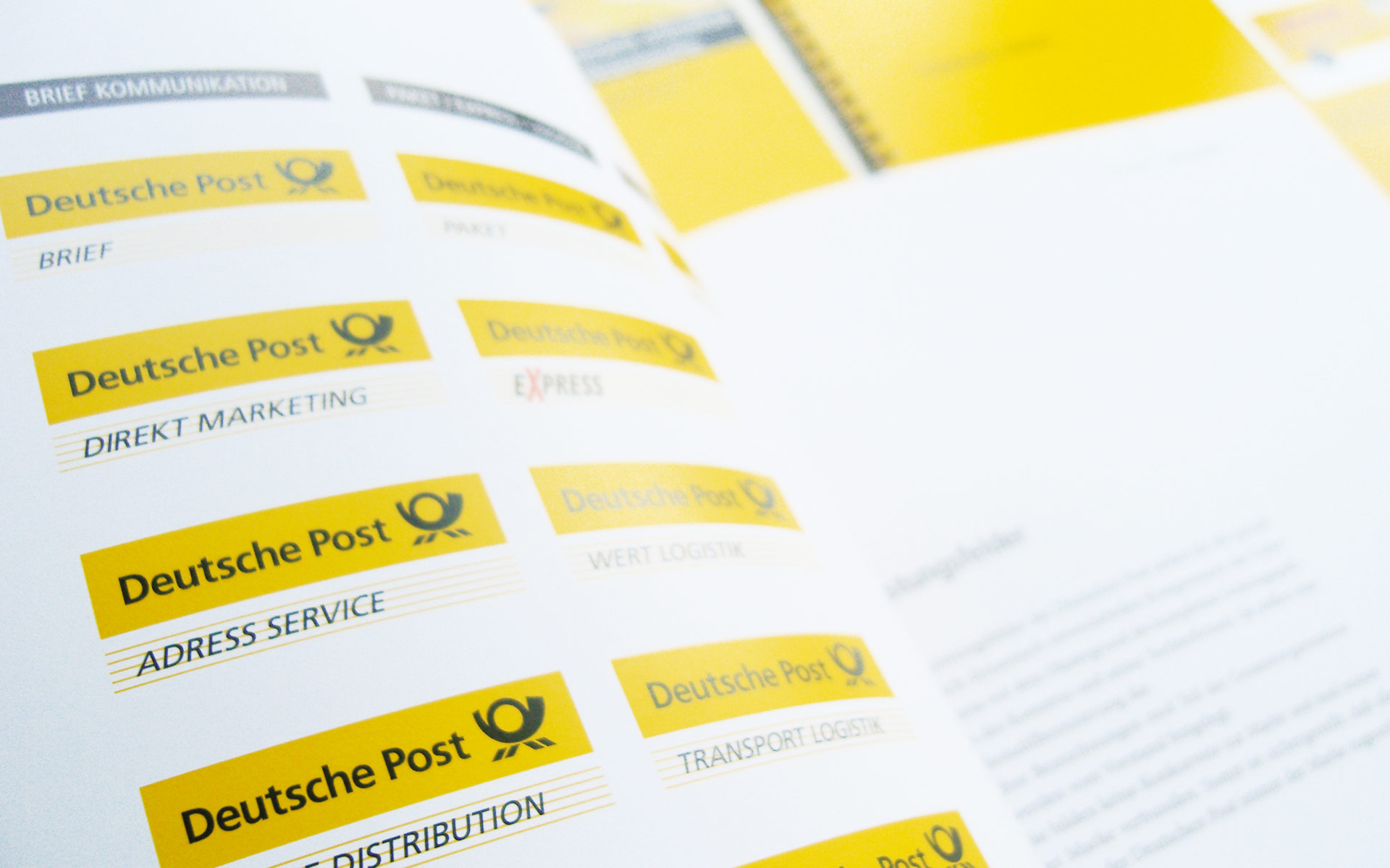 Deutsche Post AG / DHL Corporate Design,  CD-Manual, Markenfelder