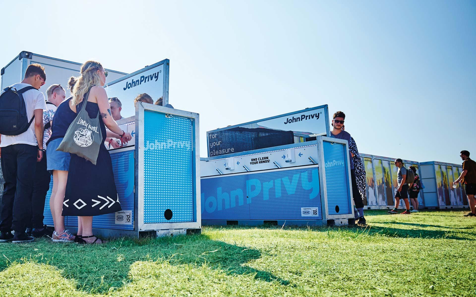 John Privy® Brand Identity, Einsatz auf dem Festival, Branding der Wash-Unit
