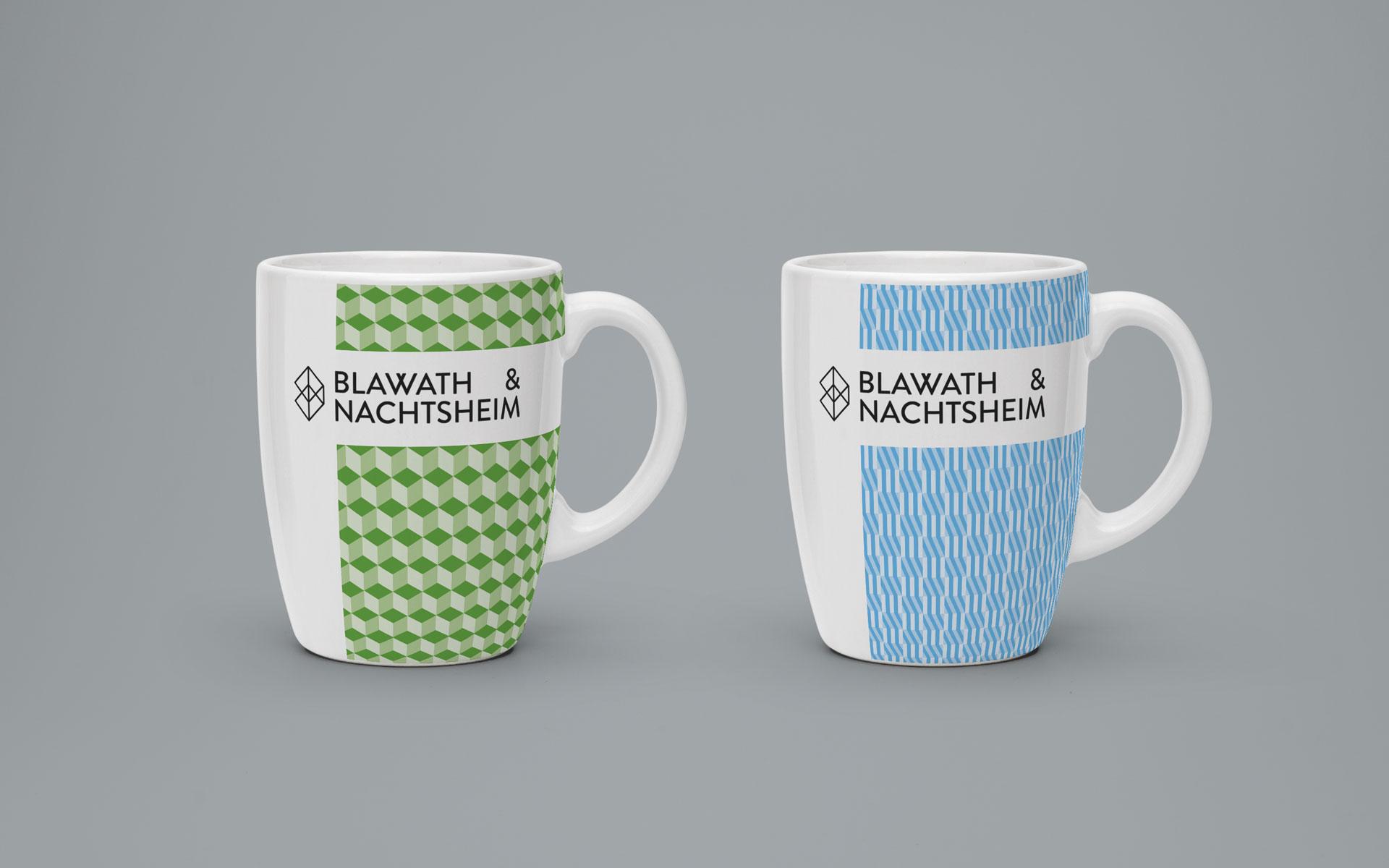 Blawath & Nachtsheim Corporate Design, Branding von Tassen