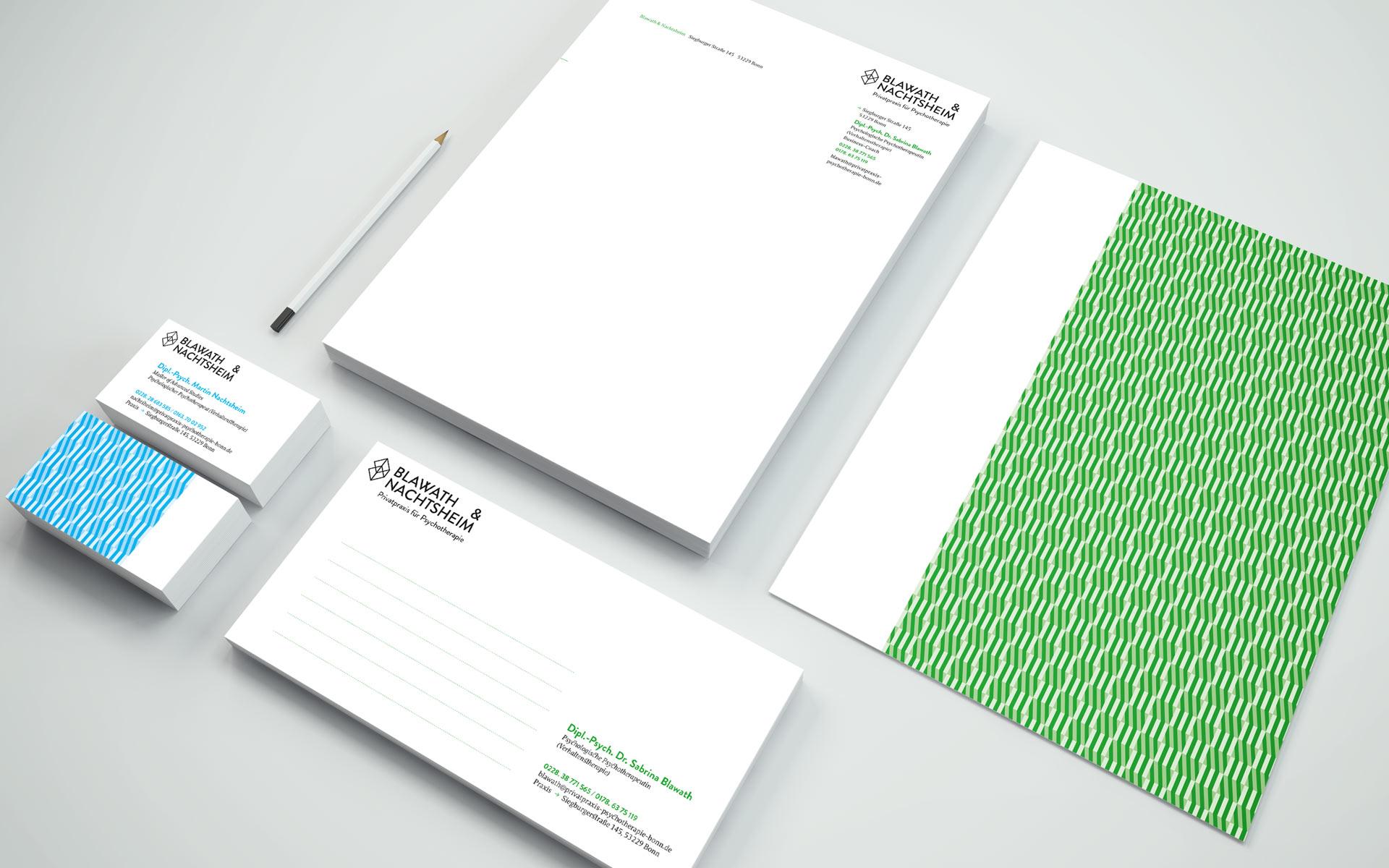 Blawath & Nachtsheim Corporate Design, Geschäftsausstattung