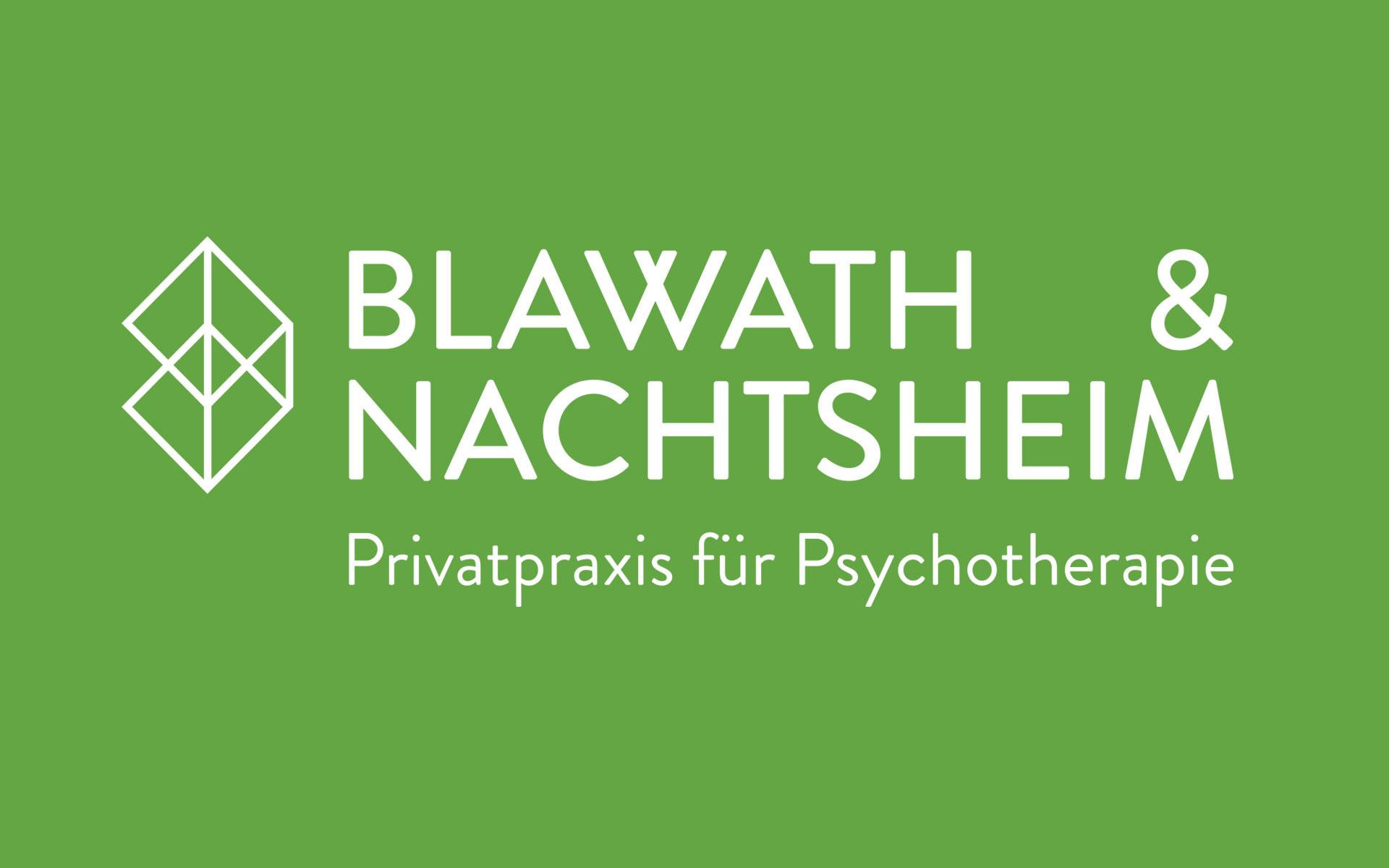 Blawath & Nachtsheim Corporate Design, Logotype weiß auf grünem Grund