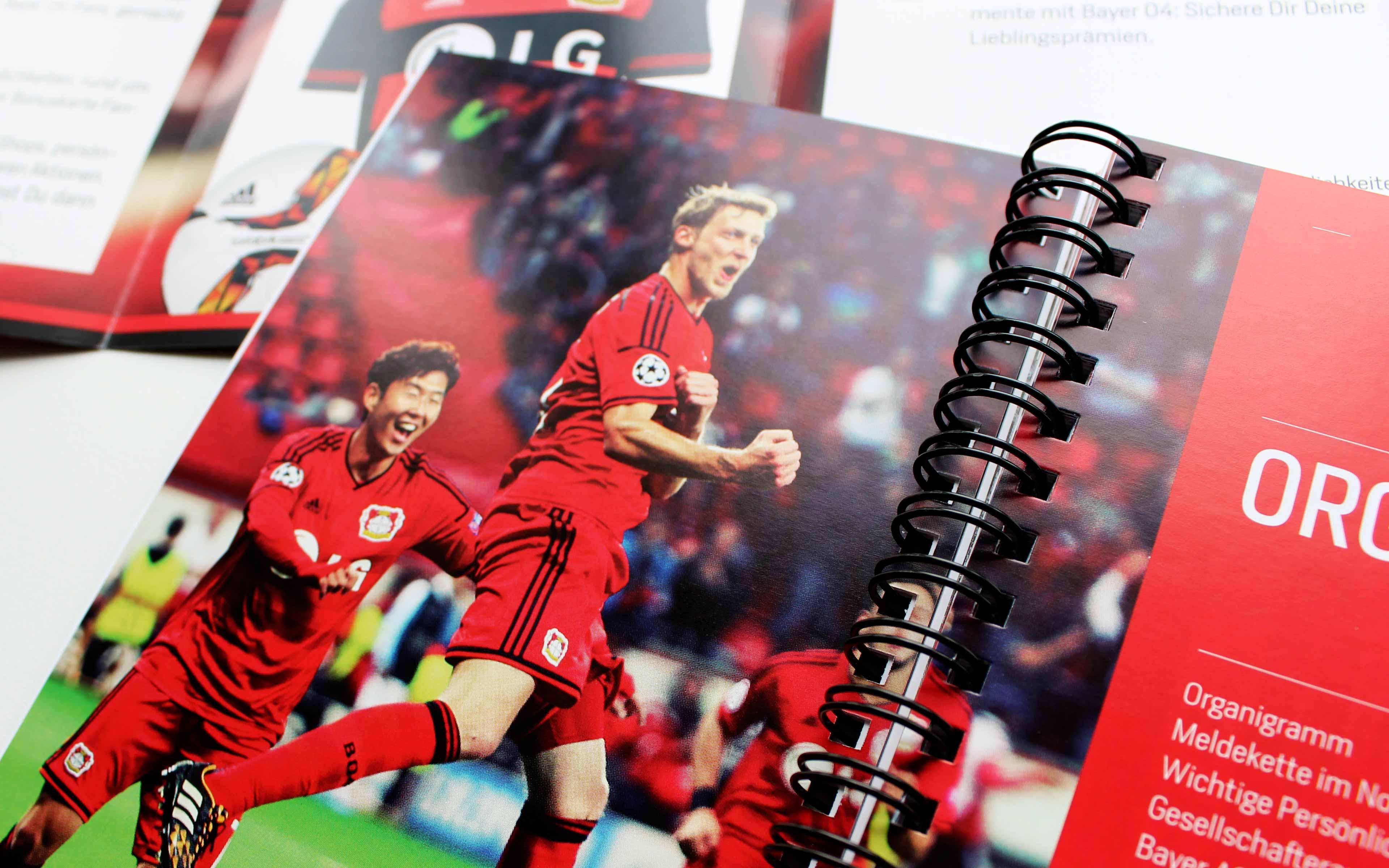 NEWS 08-2015, Bayer 04 Saisonauftrakt, Gestaltung diverser Kommunikationsmedien