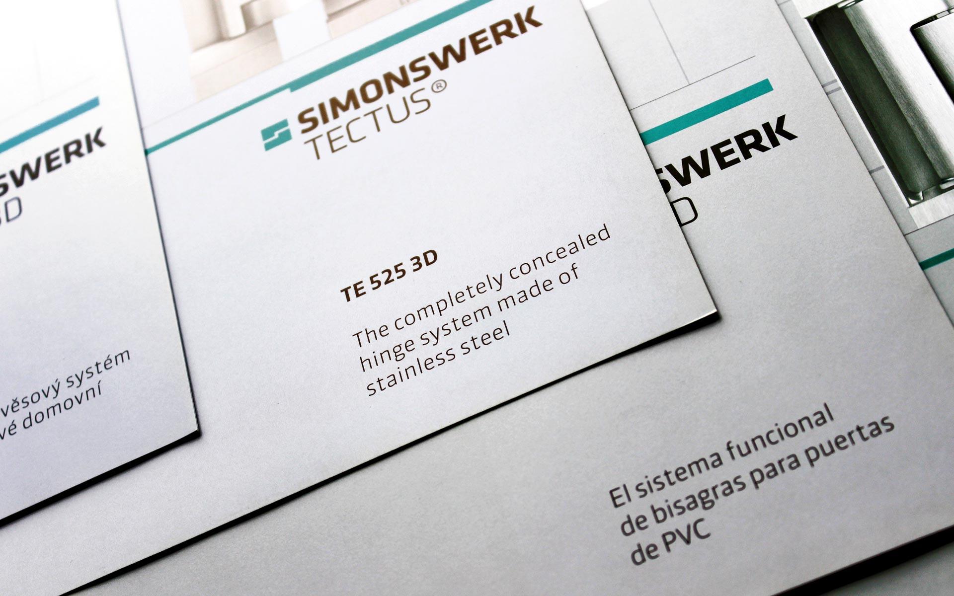 Simonswerk Broschürenwesen, Corporate Design, Produktbroschüren Titel-Detail