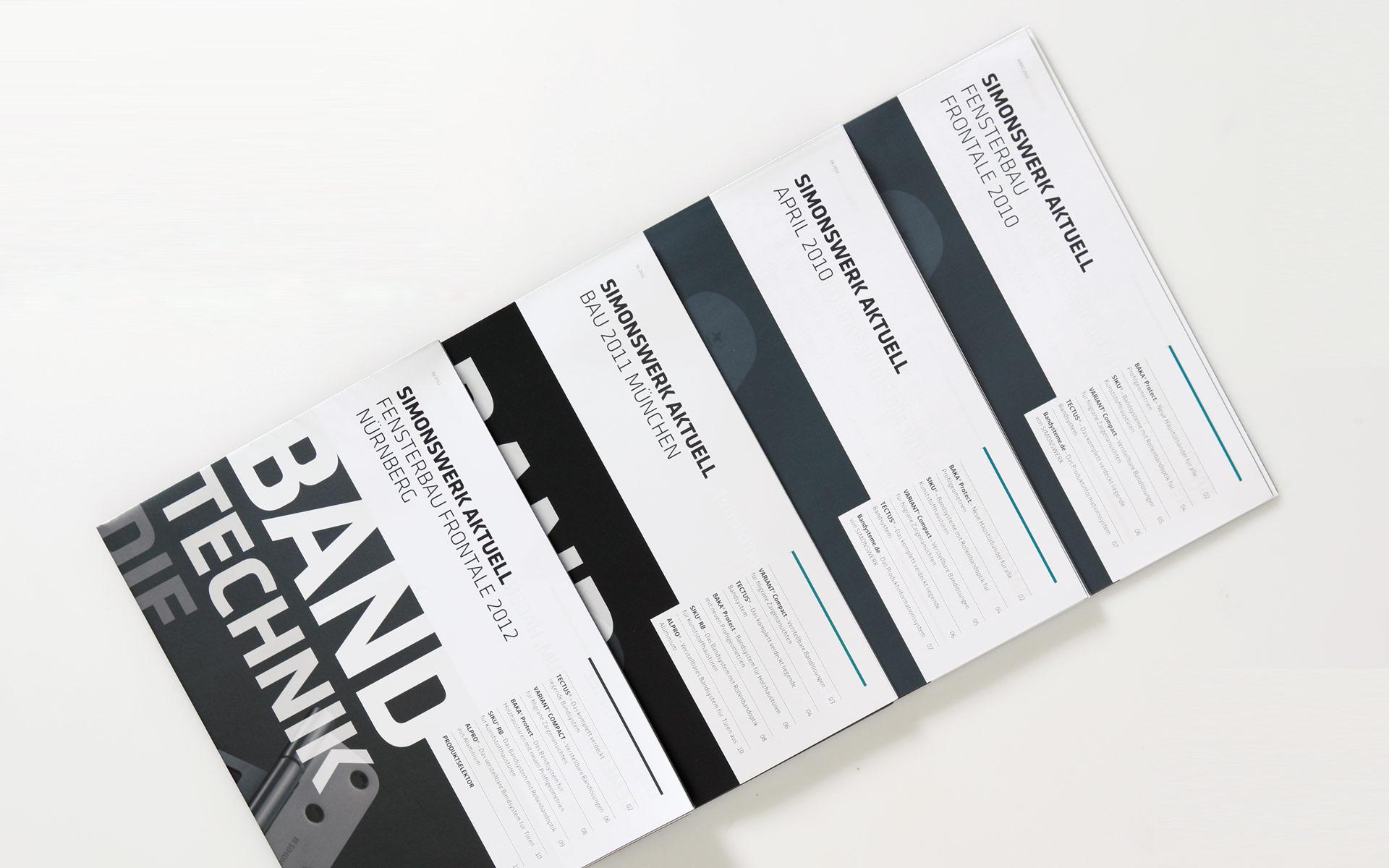 Simonswerk Broschürenwesen, Messemagazin, Titel