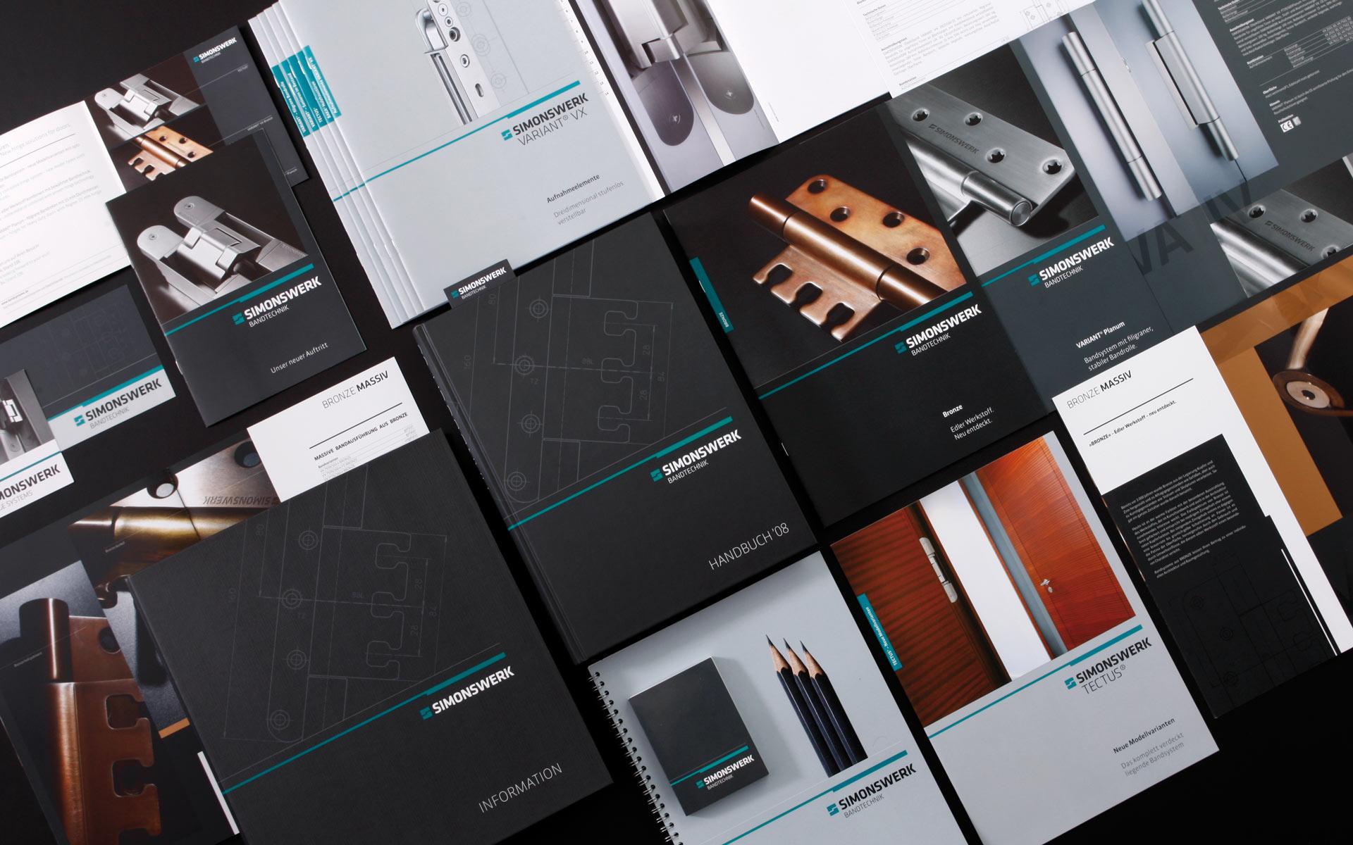 Simonswerk Corporate Design, Übersicht der Kommunikationsmittel