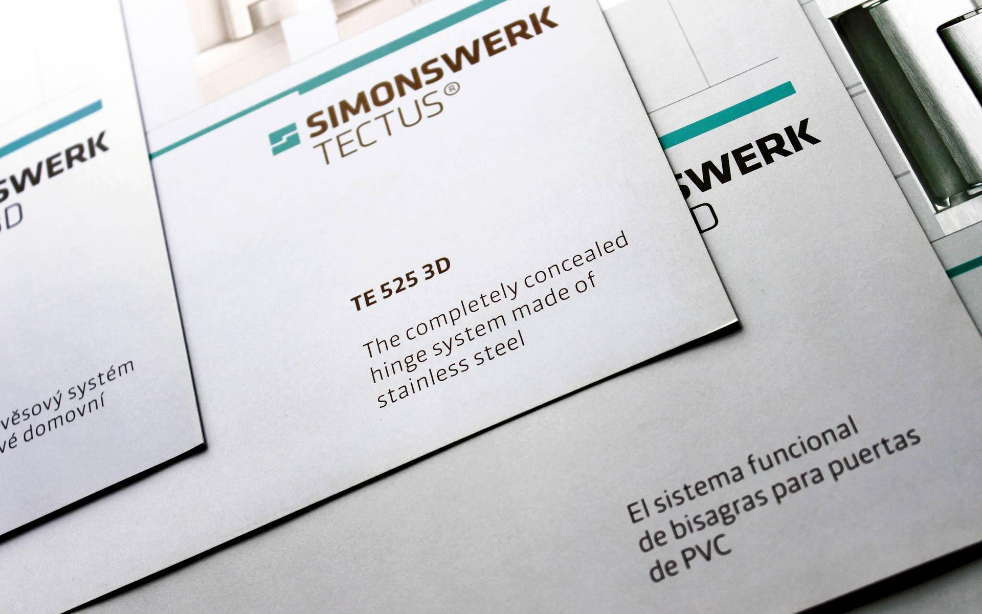 Simonswerk Corporate Design, Broschürentitel